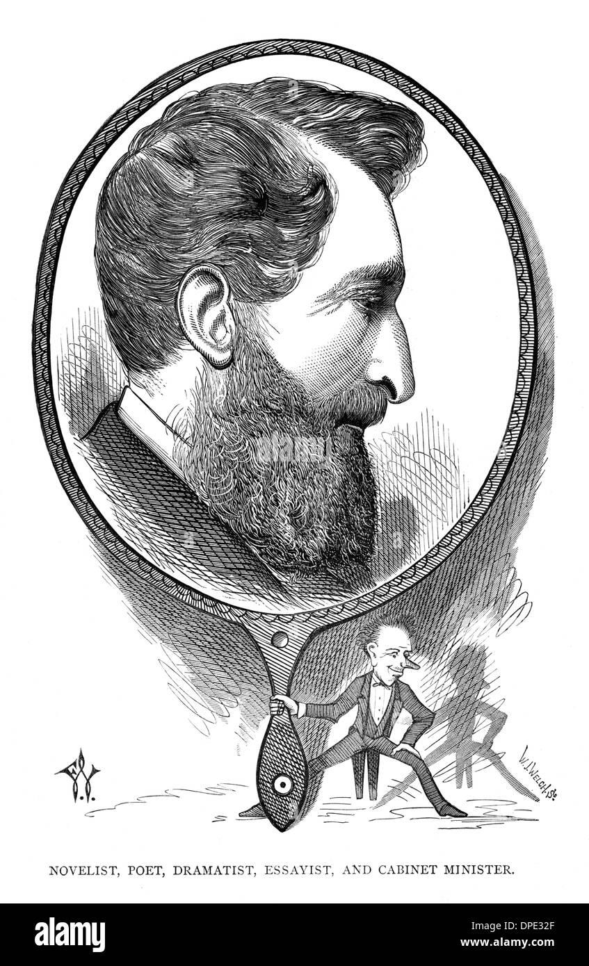 Comte DE LYTTON CARTOON Banque D'Images