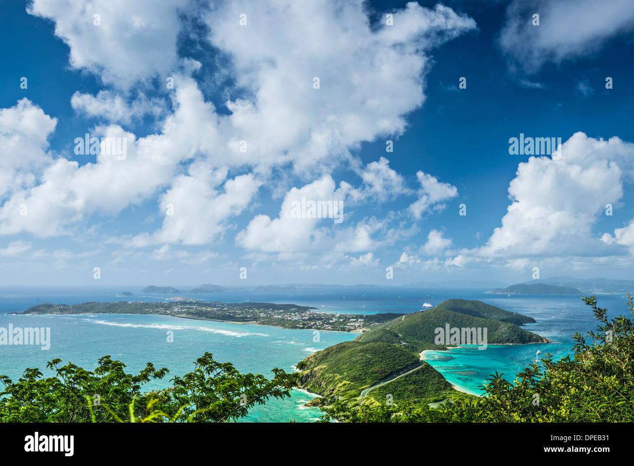 Virgin Gorda dans les îles Vierges britanniques des Caraïbes. Banque D'Images