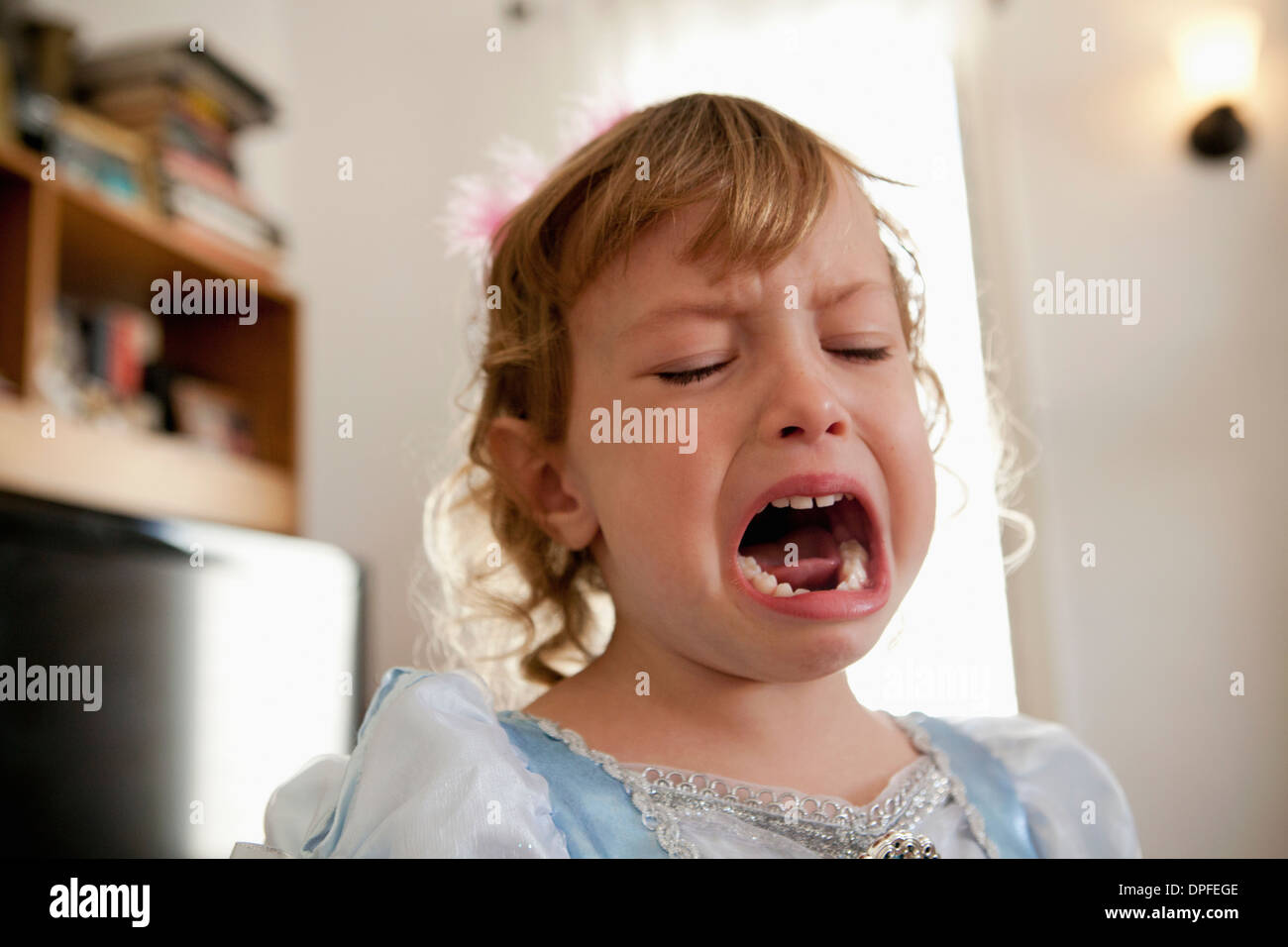 Close up of young woman crying Photo Stock
