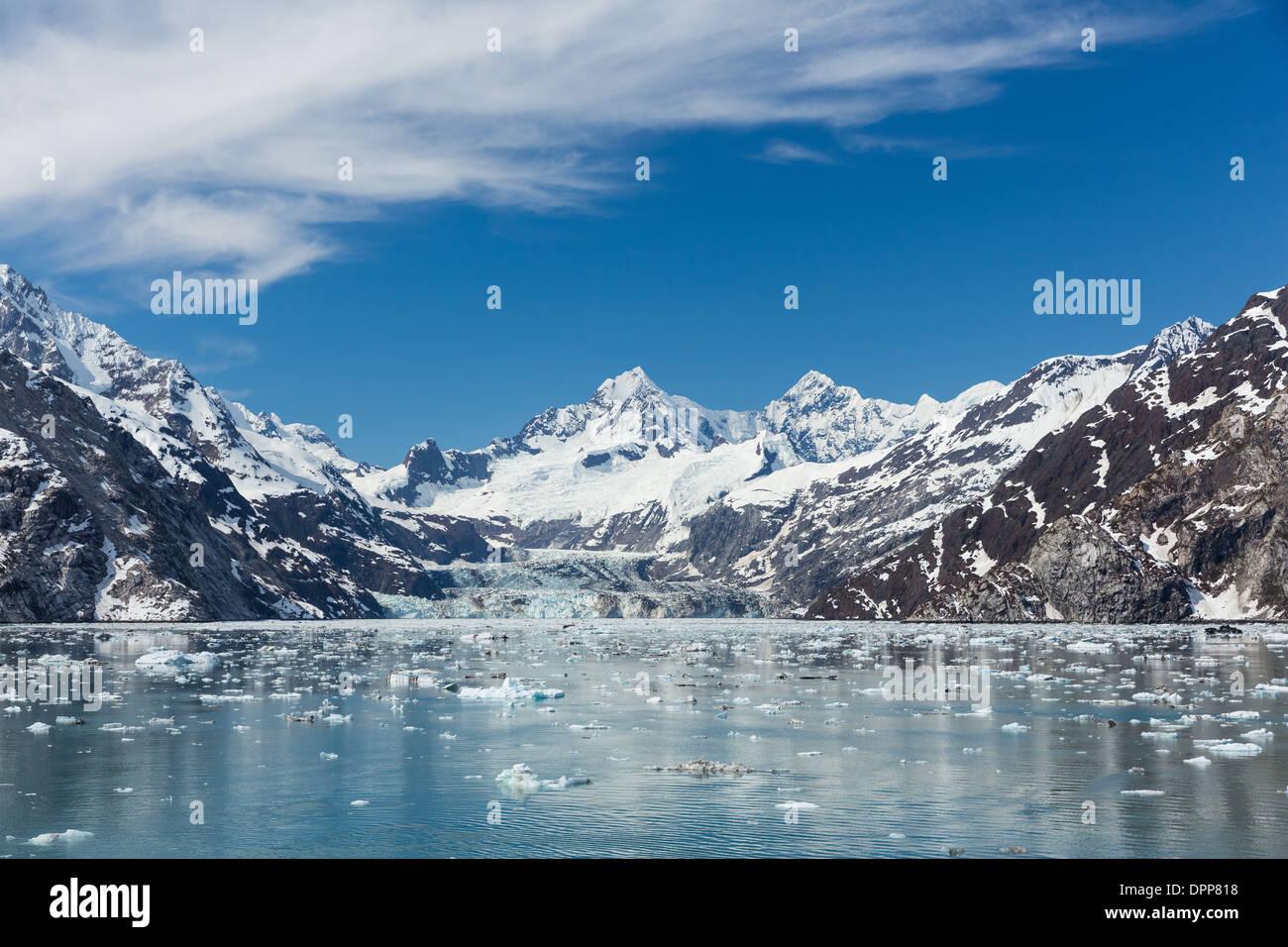D'entrée de l'Université Johns Hopkins, Glacier Bay, Alaska. Banque D'Images
