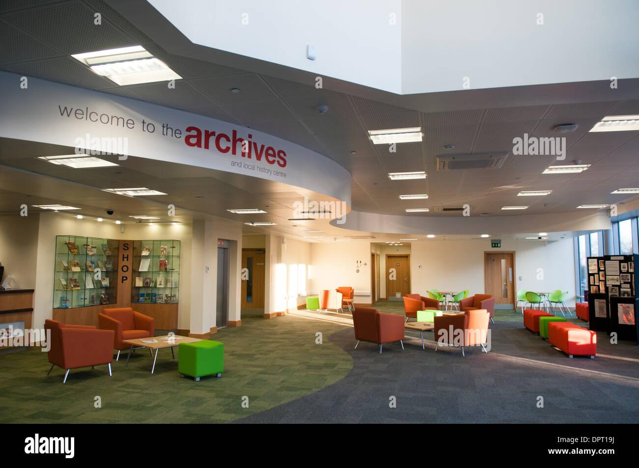 Hall de la nouvelle Archives Dudley et d'Histoire Locale Centre ouvert par Dudley Council Banque D'Images