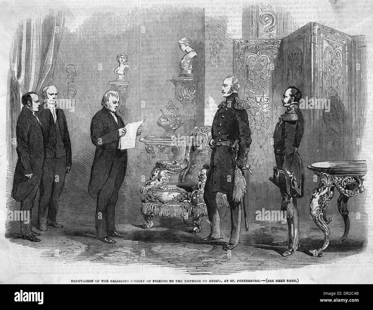 Les Quakers et le tsar Photo Stock