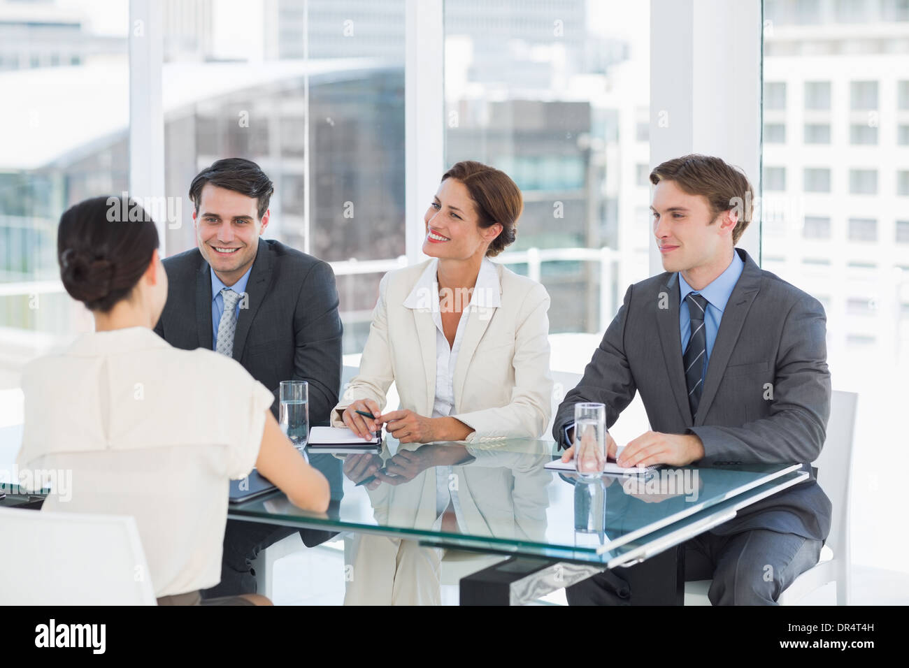 Recruiters checking the candidate during job interview Photo Stock