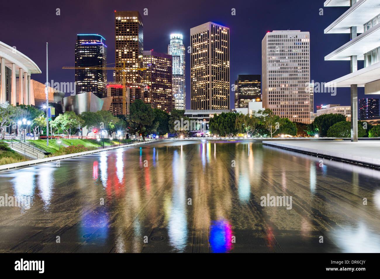 Los Angeles, Californie sur le centre-ville. Photo Stock
