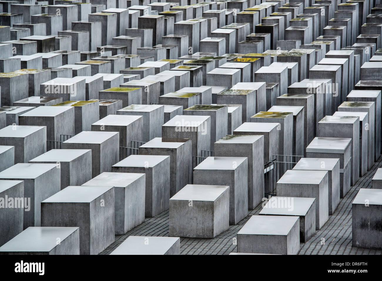Mémorial de l'Holocauste à Berlin, Allemagne. Photo Stock