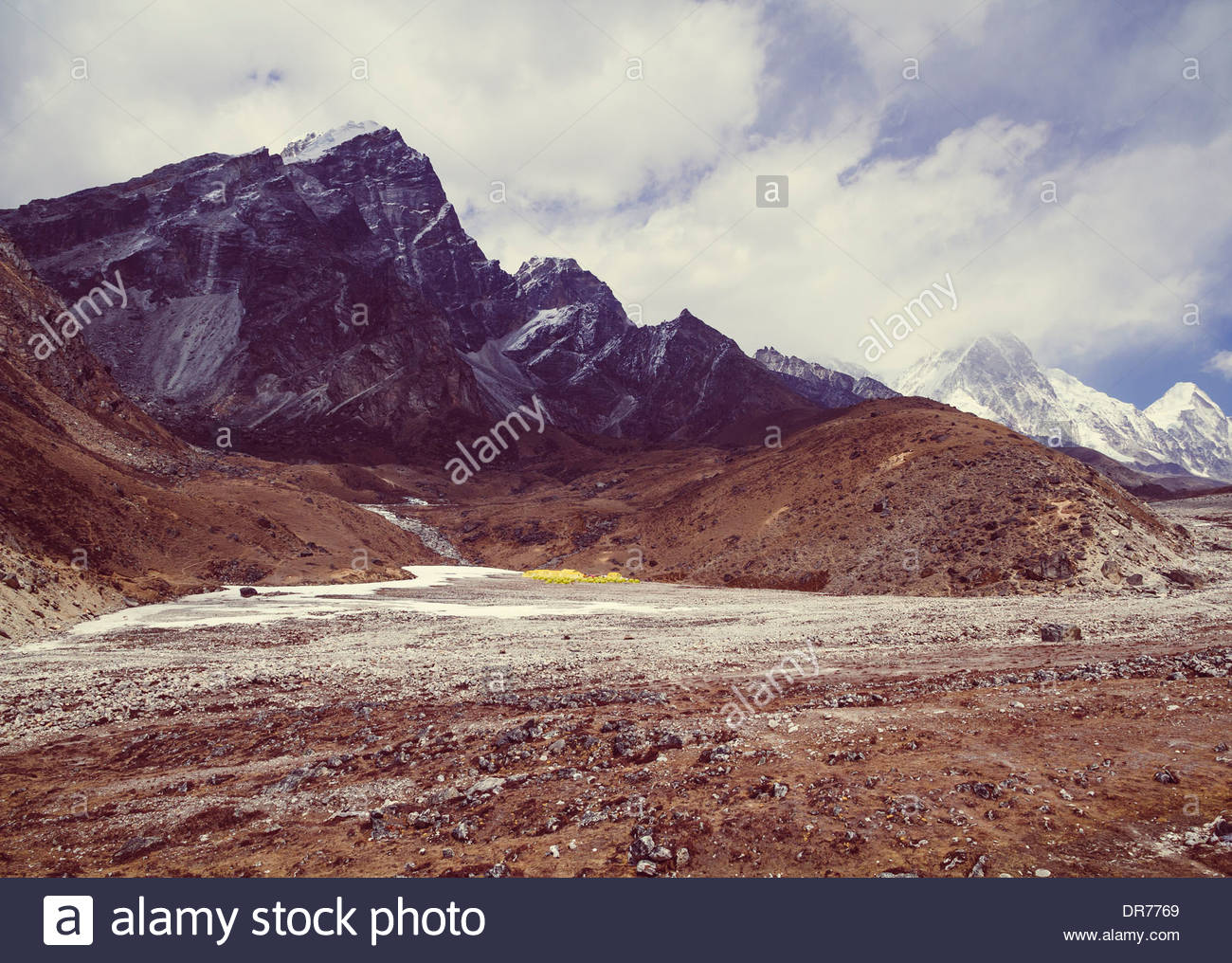 Au Népal, l'Everest, Everest Base Camp Trek Photo Stock