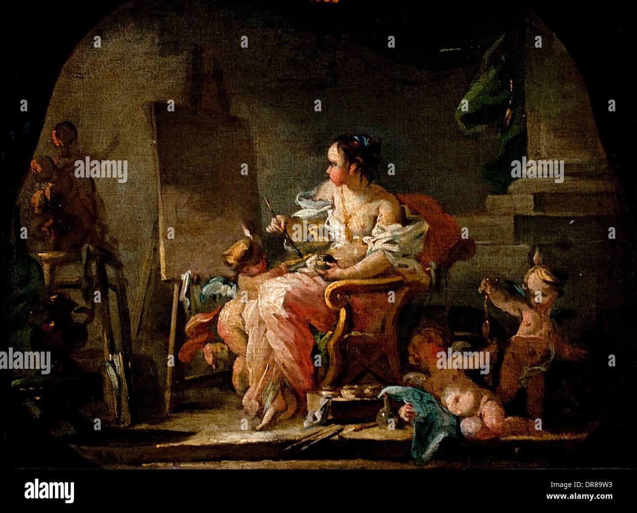 Allegorie De La Peinture De Francois Boucher 1703 1770 Francais France Photo Stock Alamy