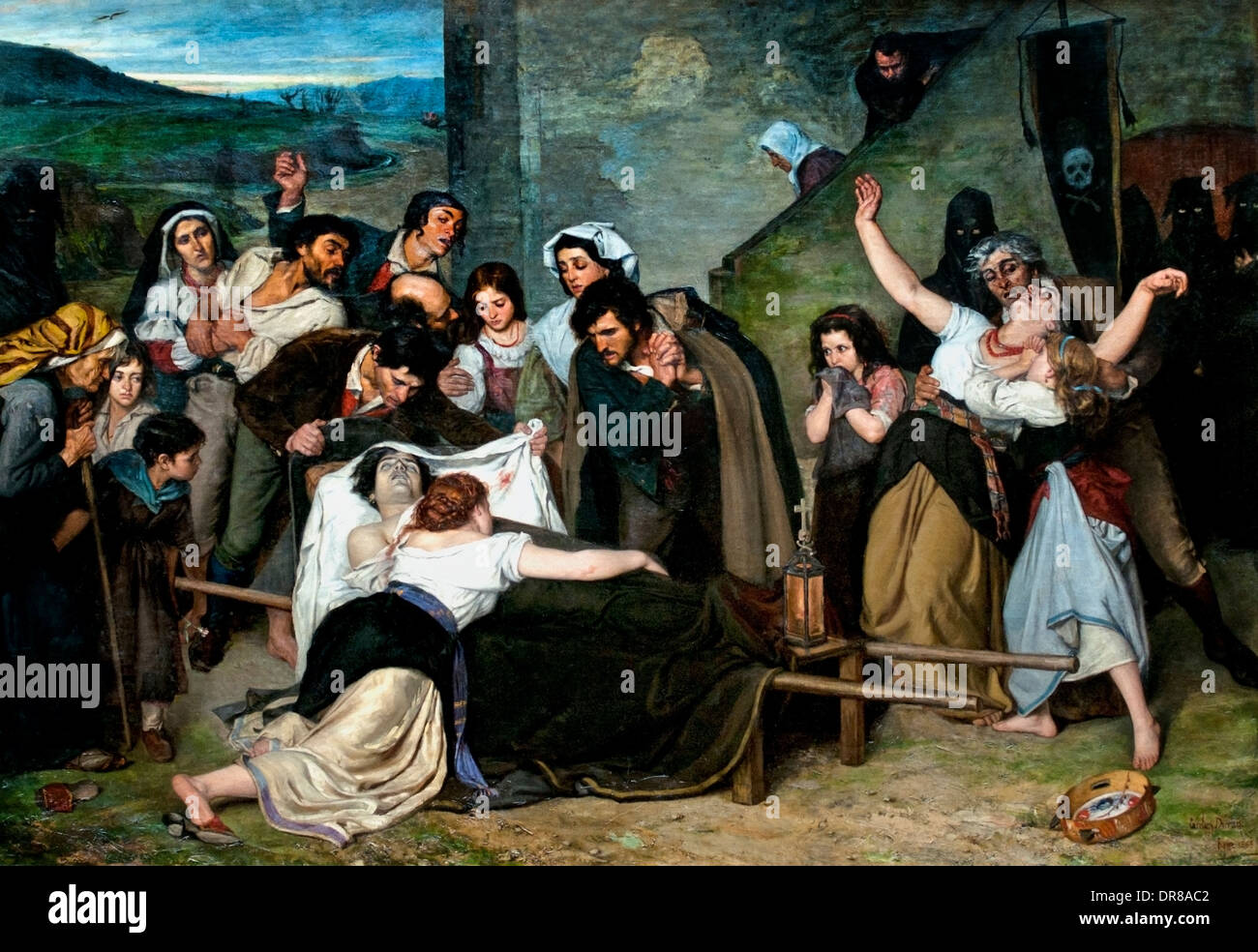 Les meurtres ou souvenir de la Campagne Romaine 1866 Carolus Duran France Français française 1837-1917 Banque D'Images
