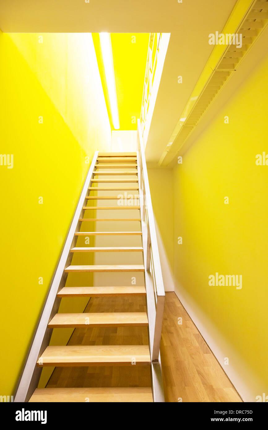 Escalier menant à la chambre Photo Stock