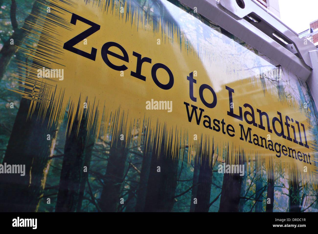 La gestion des déchets Photo Stock