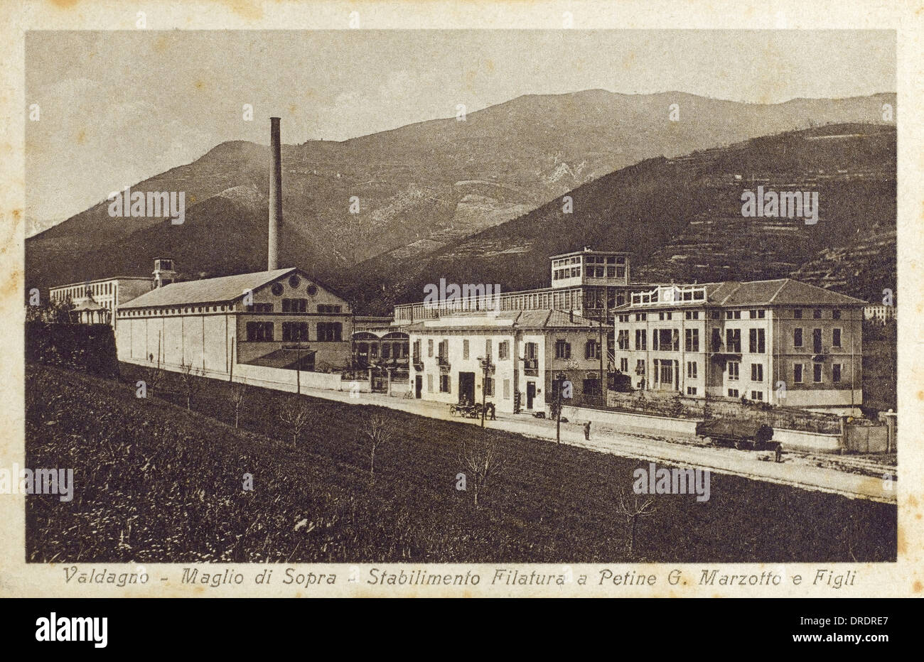 Vicenza, Italie - Usine de textile Photo Stock
