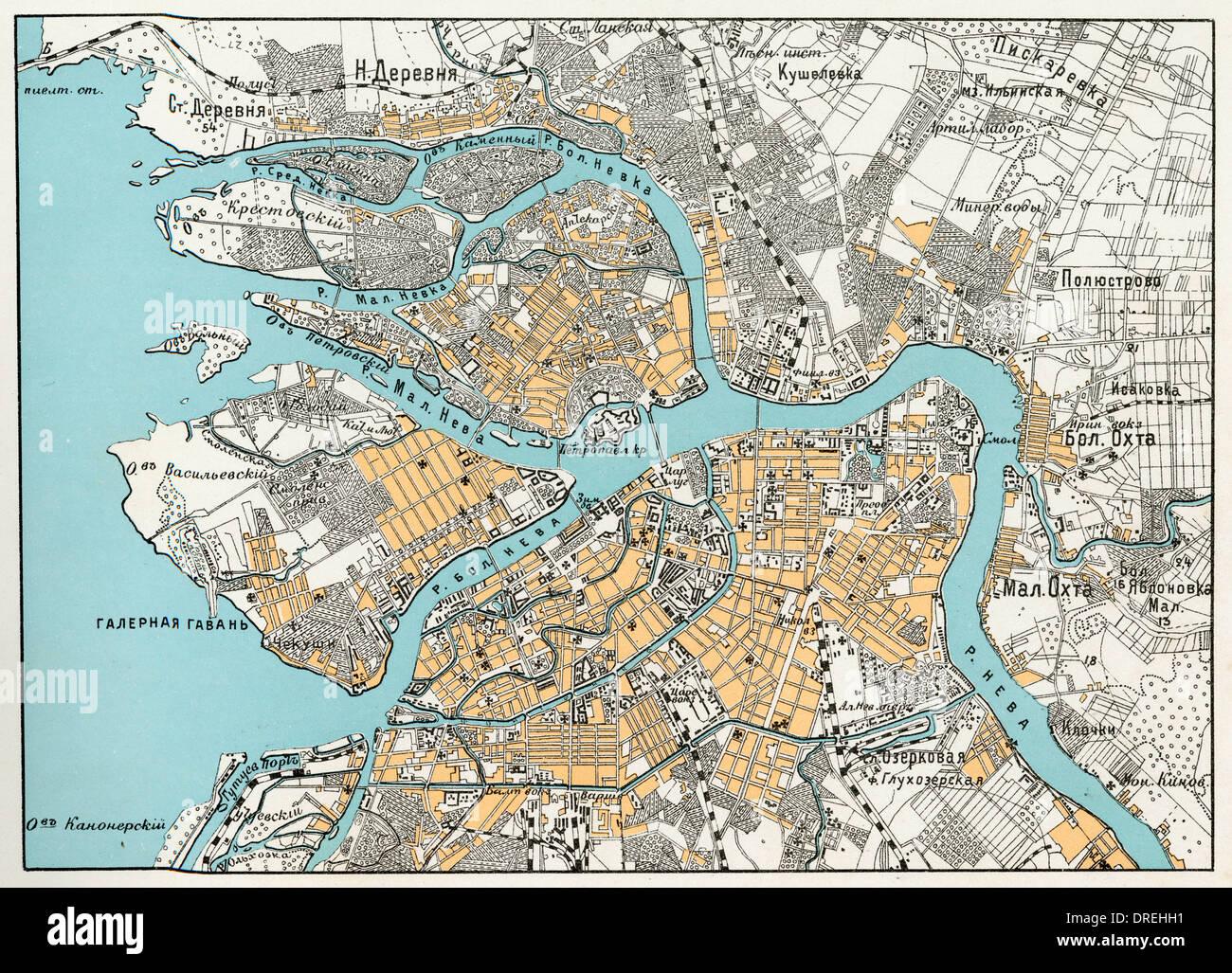 Plan de St Petersburg, Russie Photo Stock