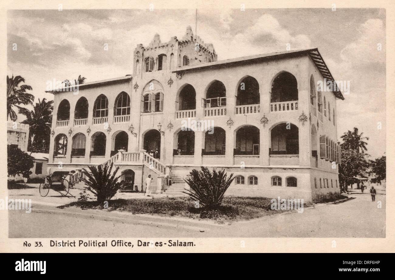 Dar-es-Salaam, Tanzanie - Bureau Politique du District Photo Stock