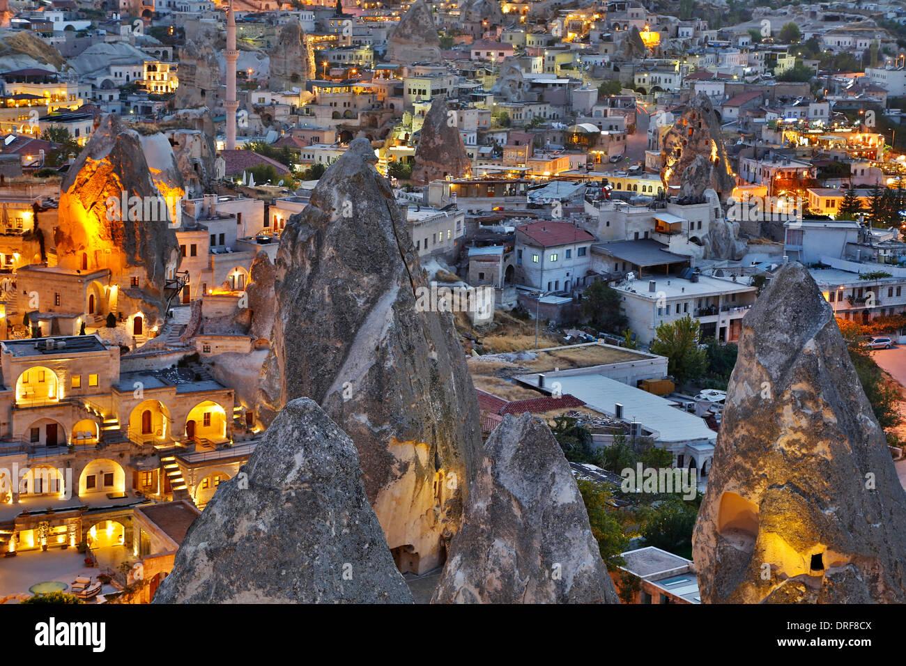 Cheminées de fées et de Göreme, Cappadoce, Turquie Banque D'Images