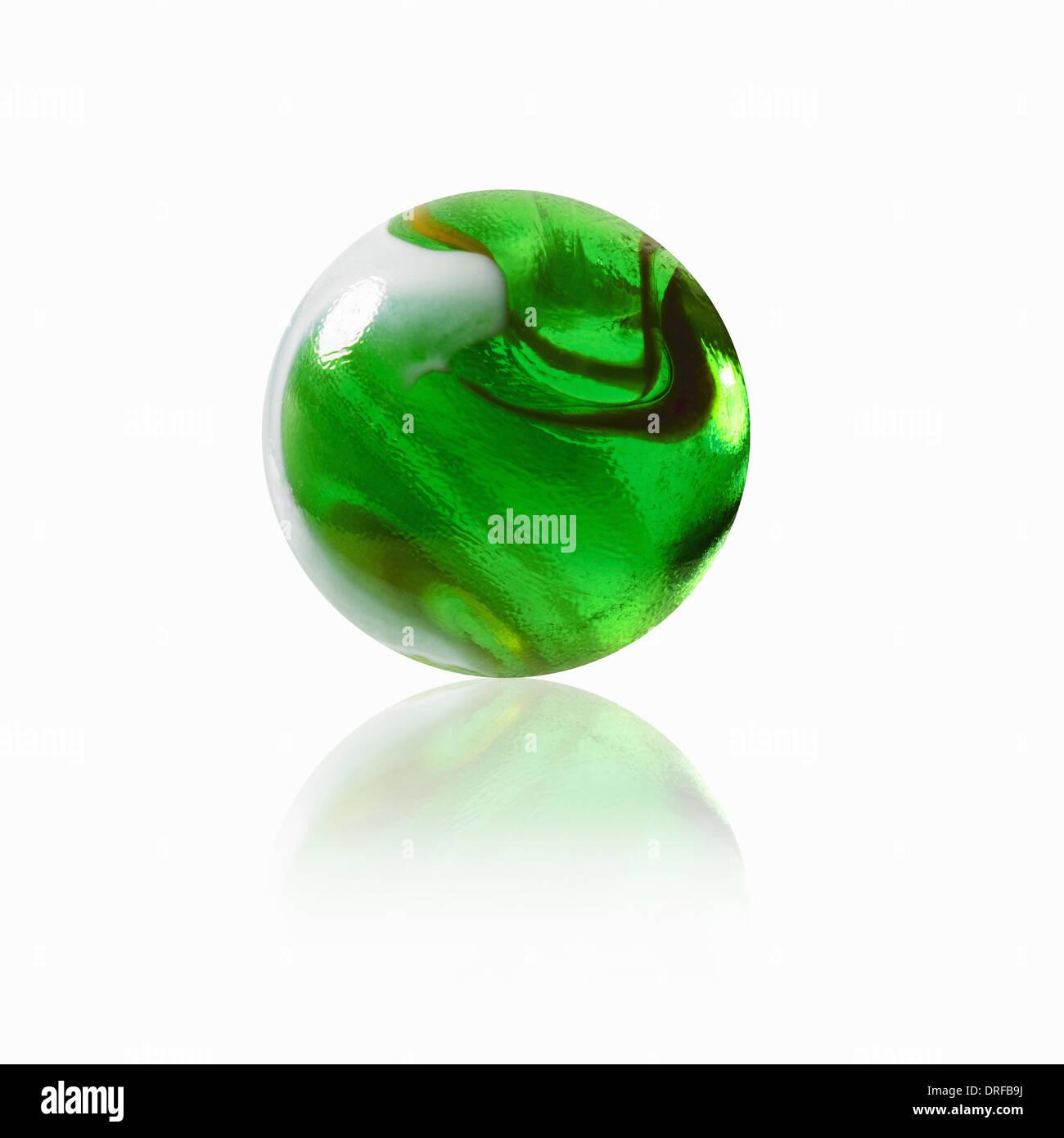 En verre vert avec un motif de l'intérieur Photo Stock