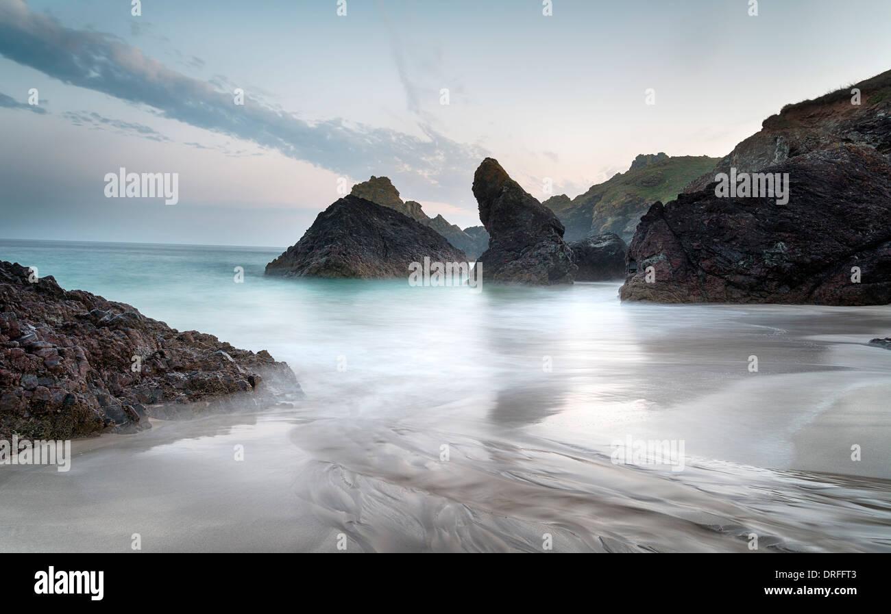 La plage de Kynance Cove Photo Stock