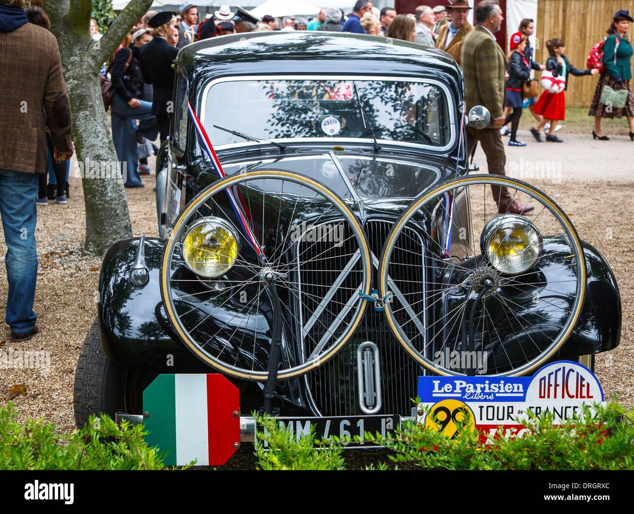 Citroen Vintage Tour de France voiture à la Goodwood Revival 2013, West Sussex, UK Photo Stock