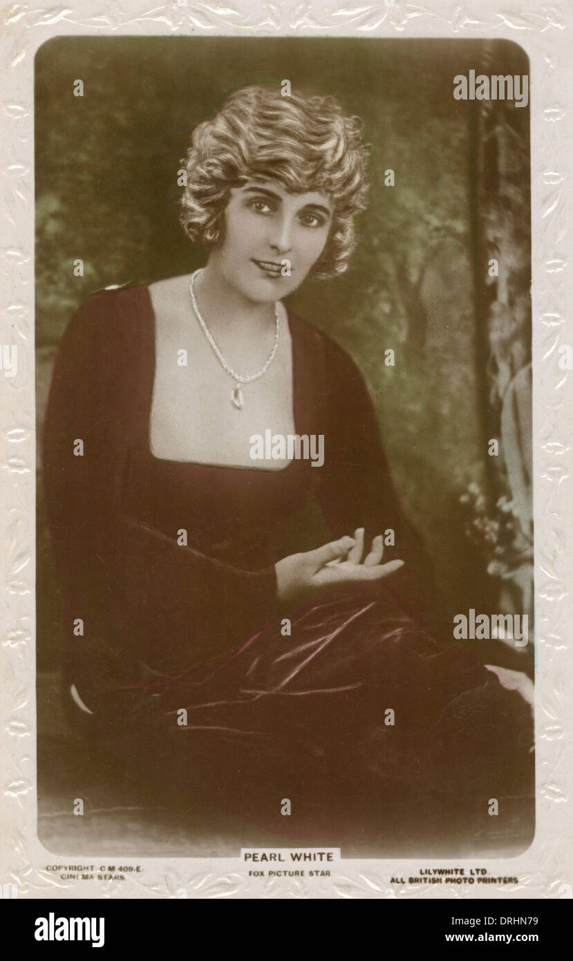 Pearl Fay White - Actrice américaine et star stunt Banque D'Images