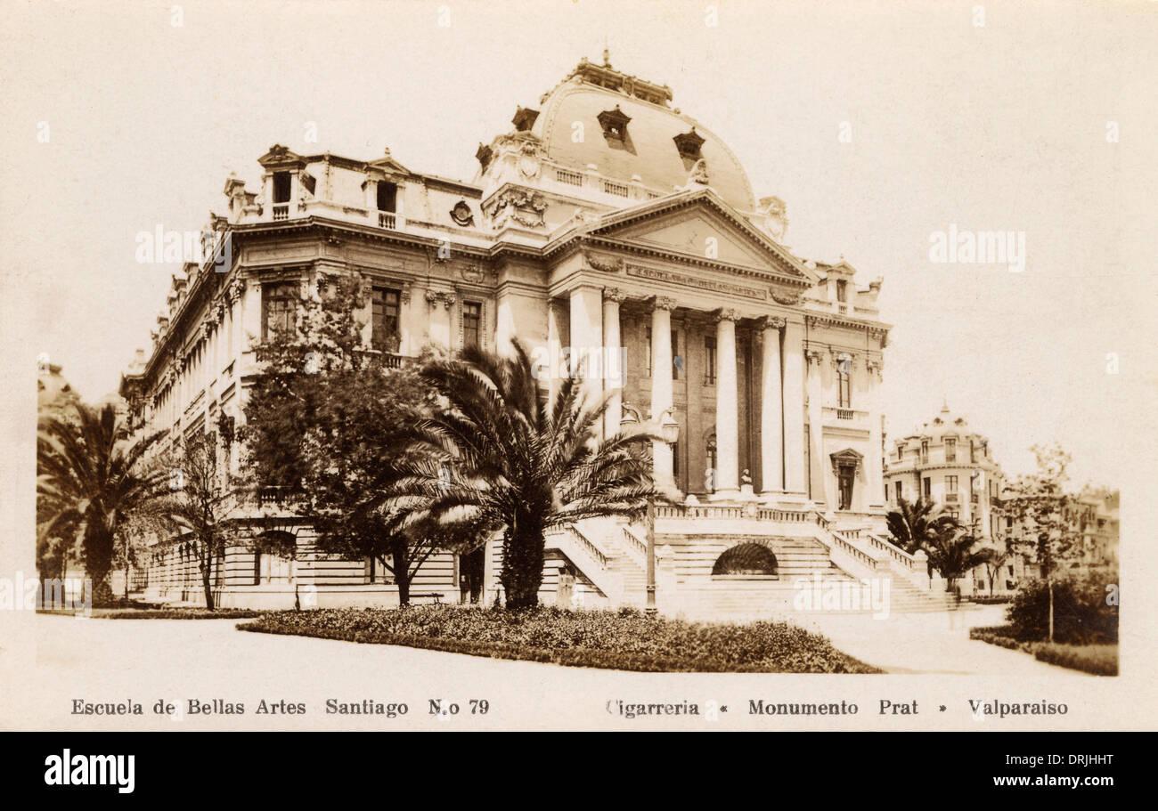 Santiago, Chili - l'École des beaux-arts Photo Stock