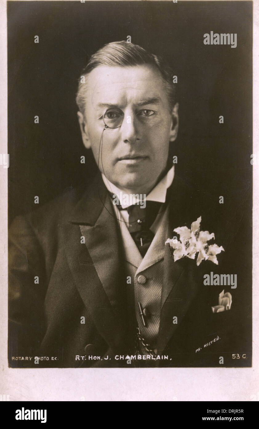 Portrait du Très Honorable Joseph Chamberlain Photo Stock