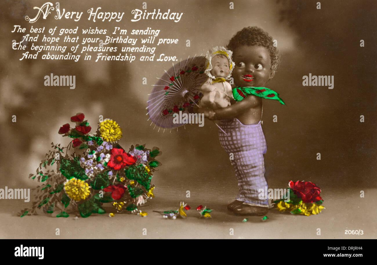 Un Joyeux Anniversaire Carte Postale. Photo Stock