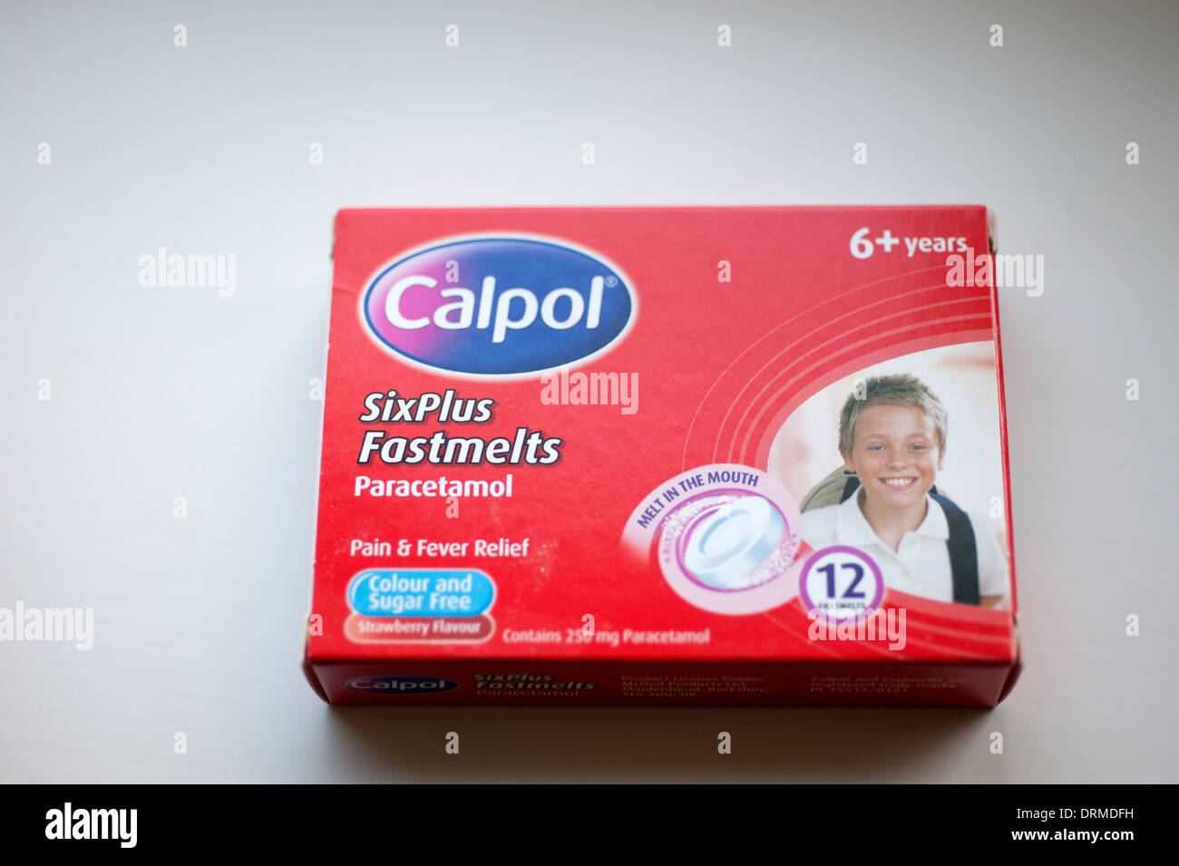 Calpol Fastmets paracétamol enfants pain killer Photo Stock