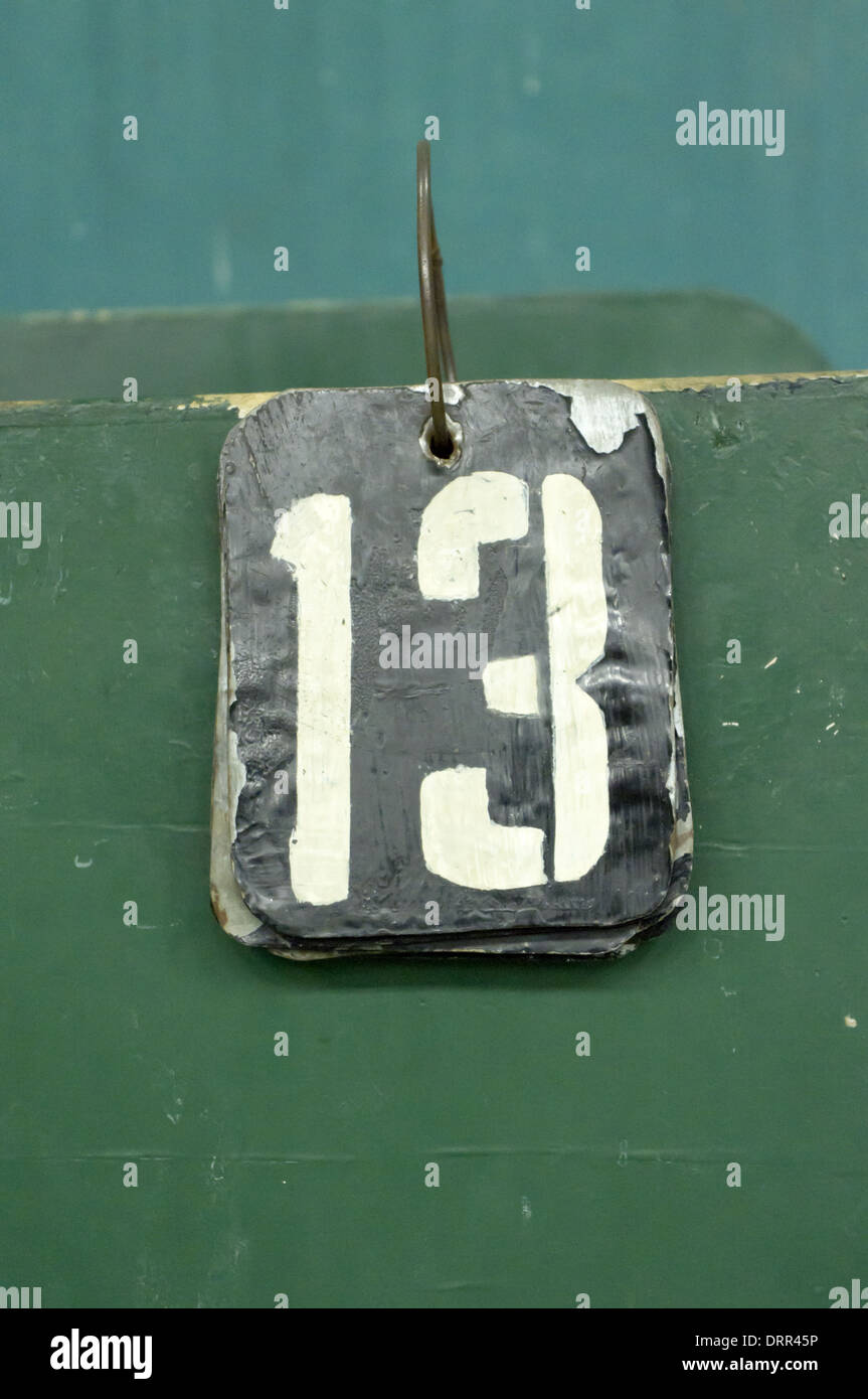 Numéro de série, 13 Photo Stock