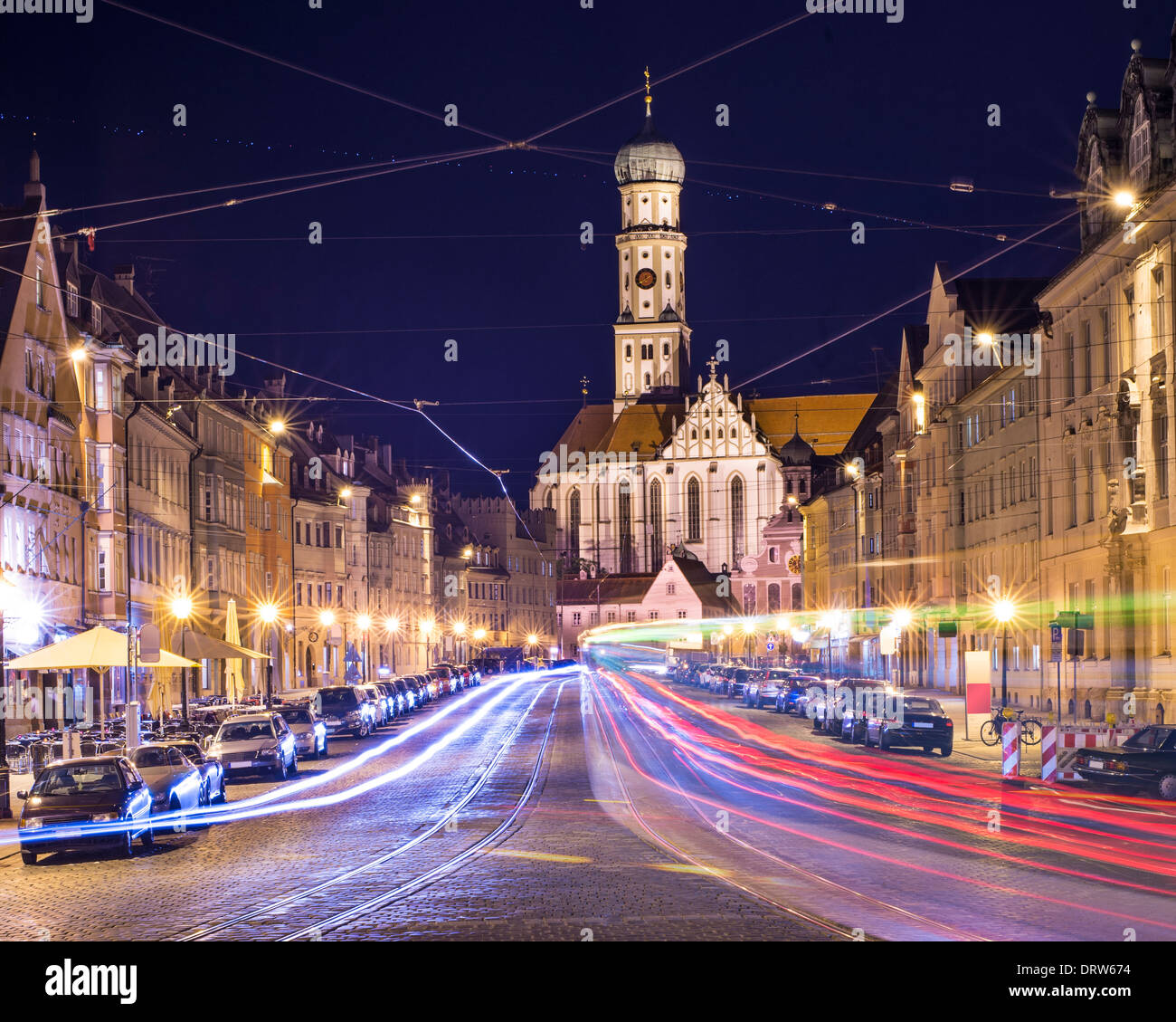 Augsburg, Allemagne paysage urbain. Photo Stock
