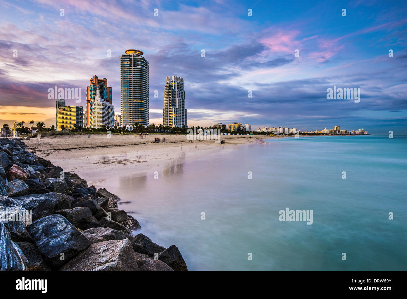 Miami, Floride, à South Beach. Photo Stock