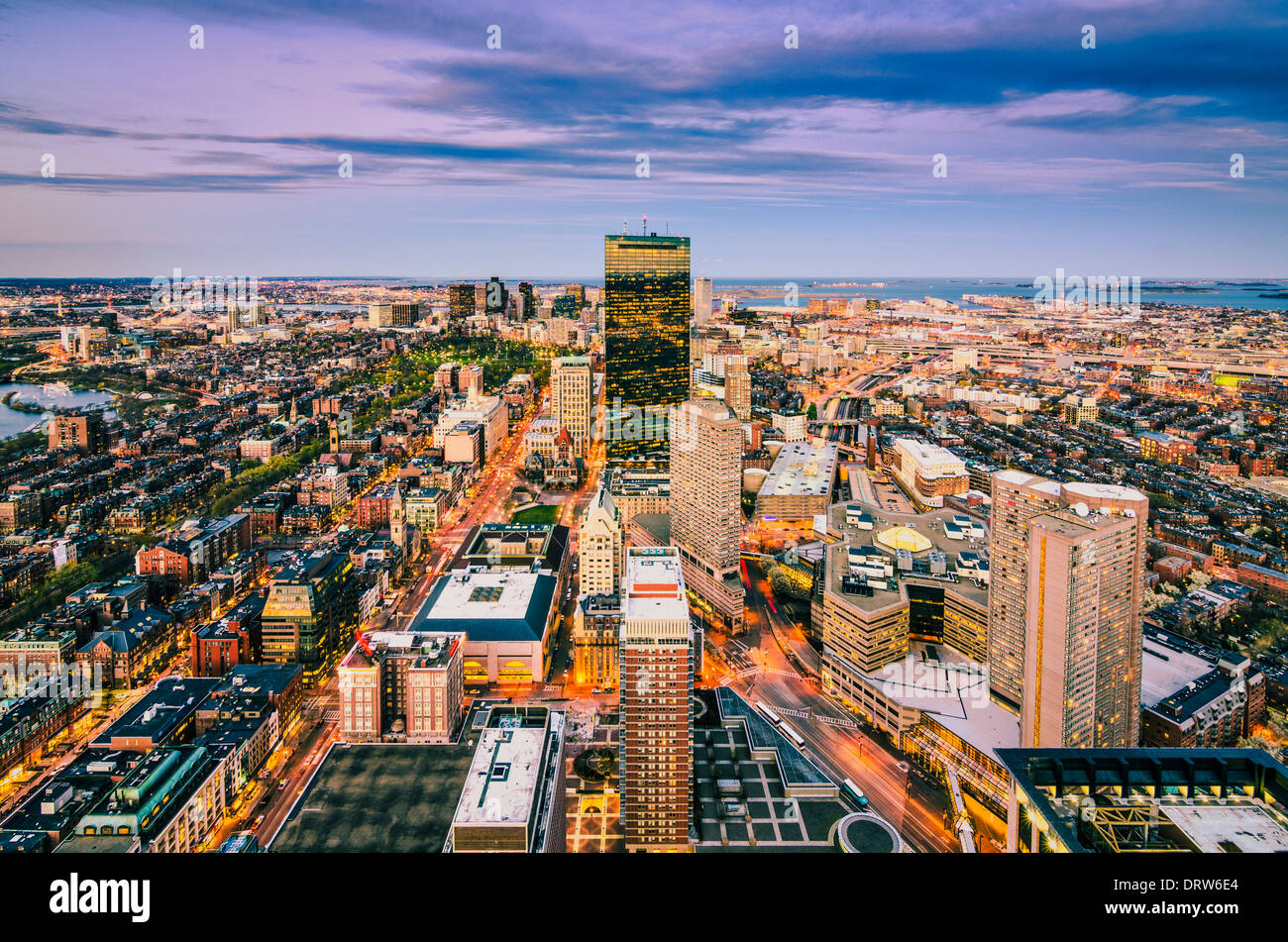 Boston, Massachusetts skyline Photo Stock