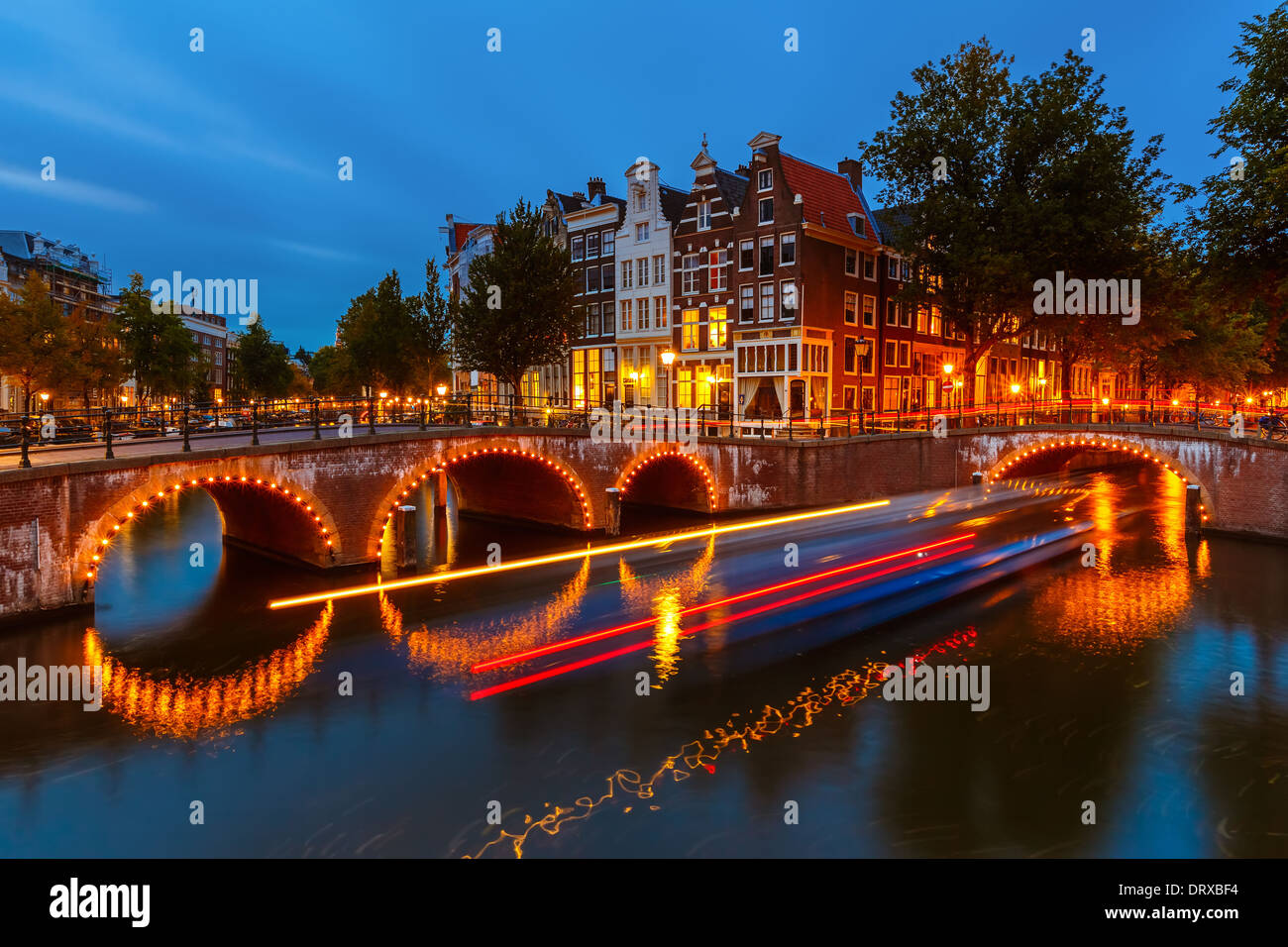 Les canaux d'Amsterdam Photo Stock