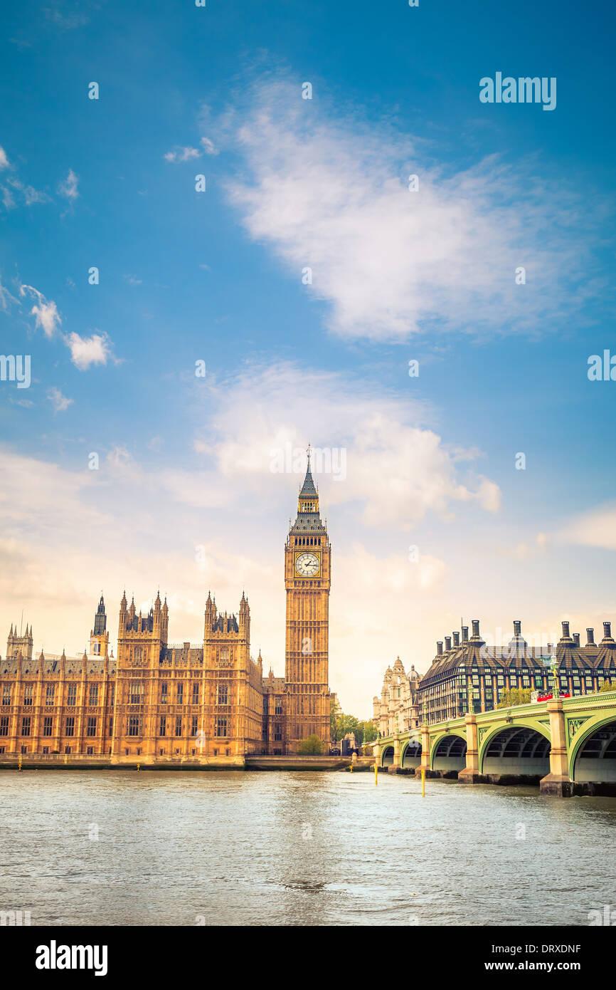 Nuages sur Big Ben Photo Stock