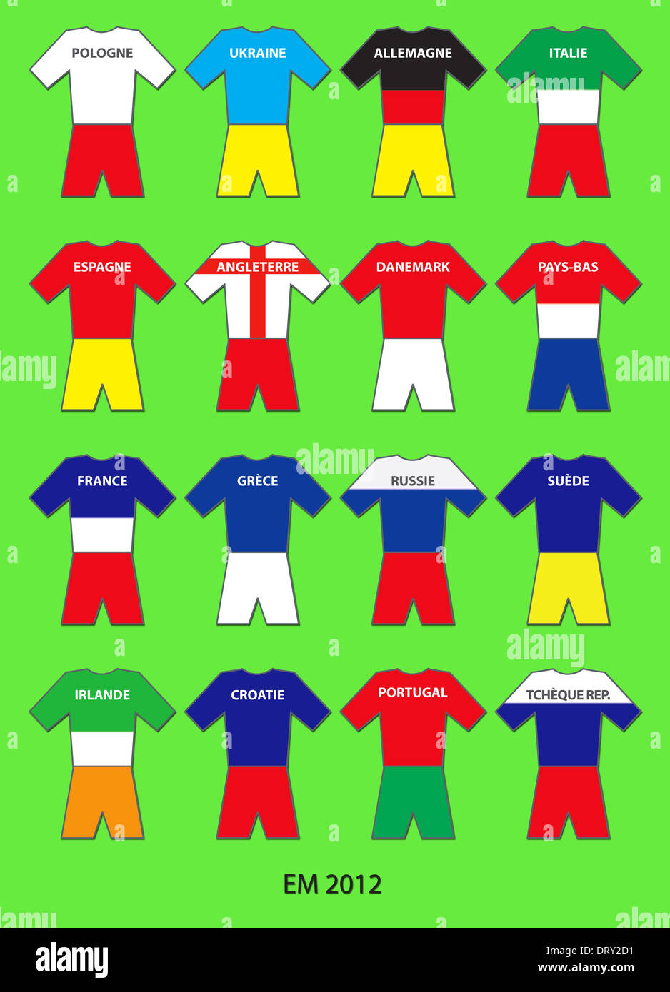 EM 2012 Equipes - English Photo Stock