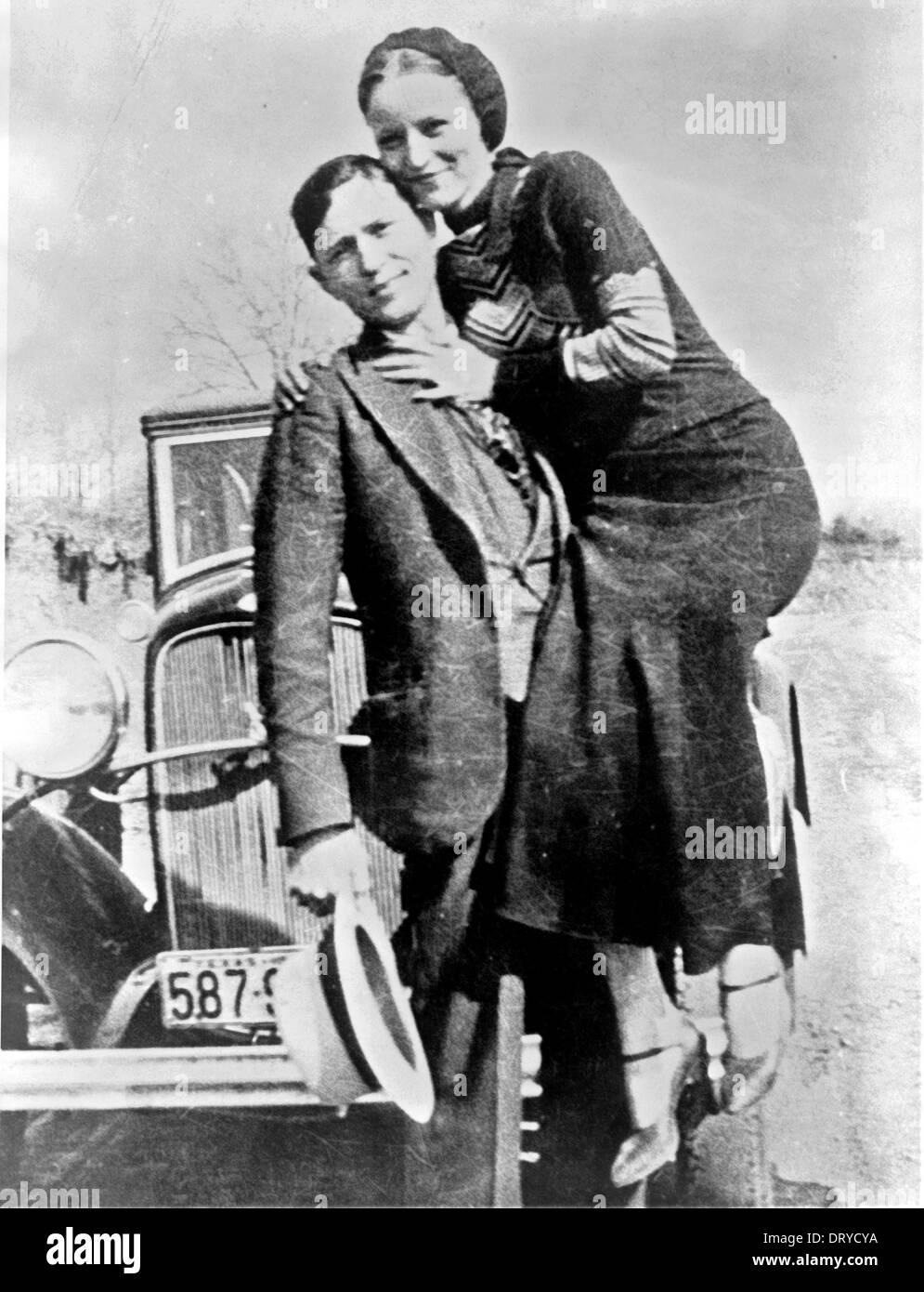 Bonnie et Clyde Bonnie et Clyde, de hors-la-loi Banque D'Images