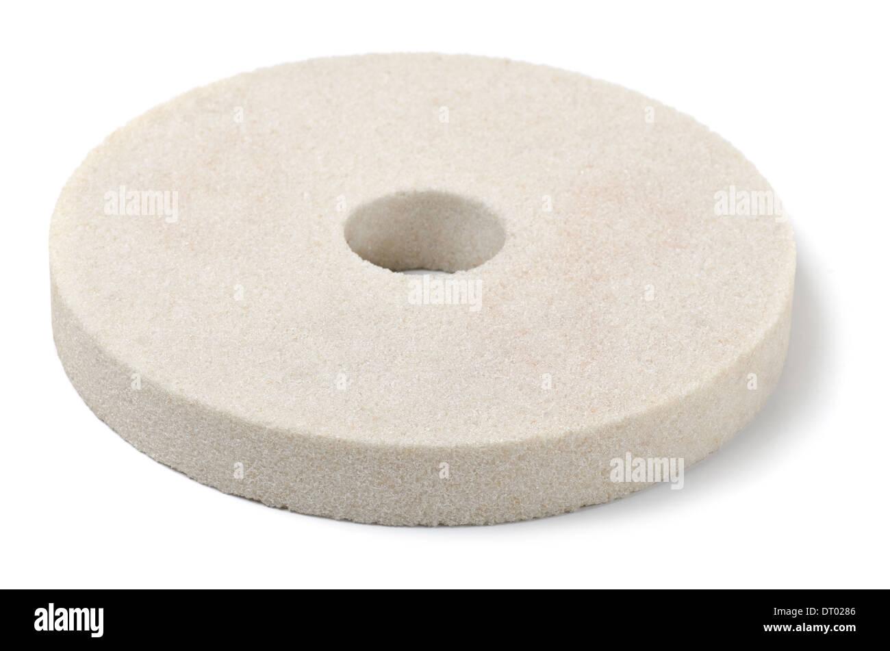 Meule blanc isolated on white Photo Stock