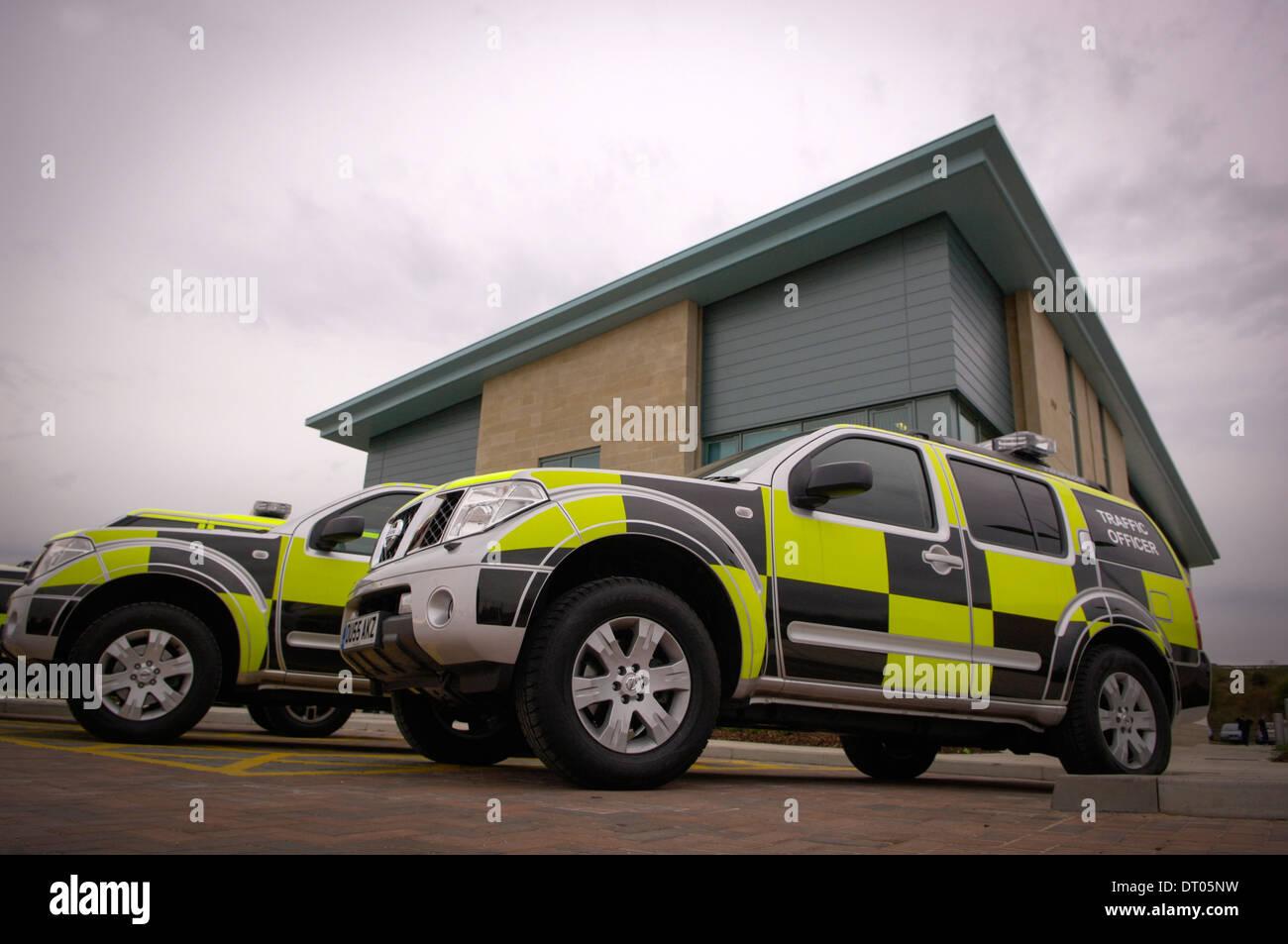 Le Nord-est du centre de contrôle régional de la Highways Agency, Wakefield, Royaume-Uni. Photo Stock