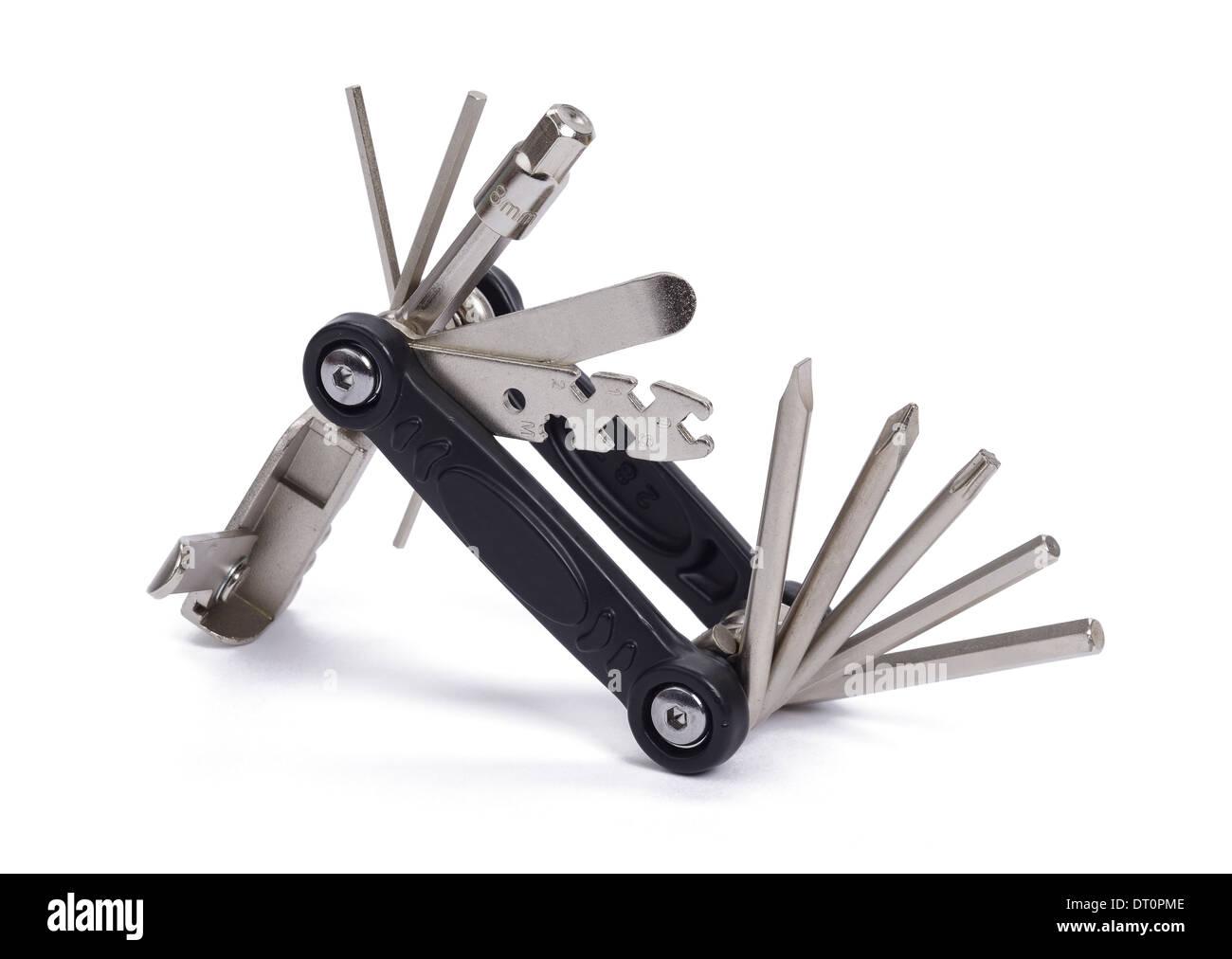 Jeu d'outils multiples pour les cyclistes Photo Stock