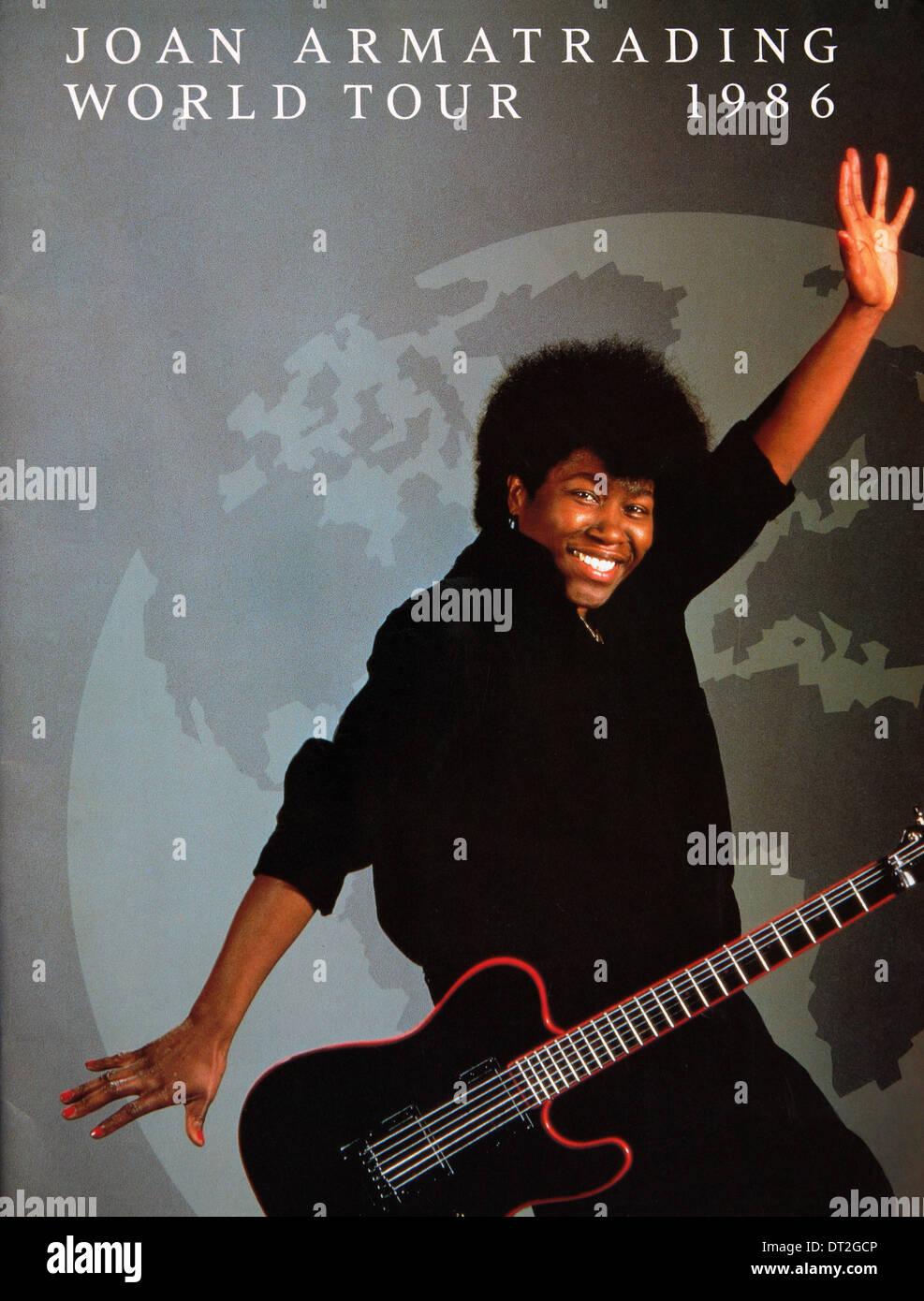 Joan Armatrading World Tour 1986 Brochure Photo Stock