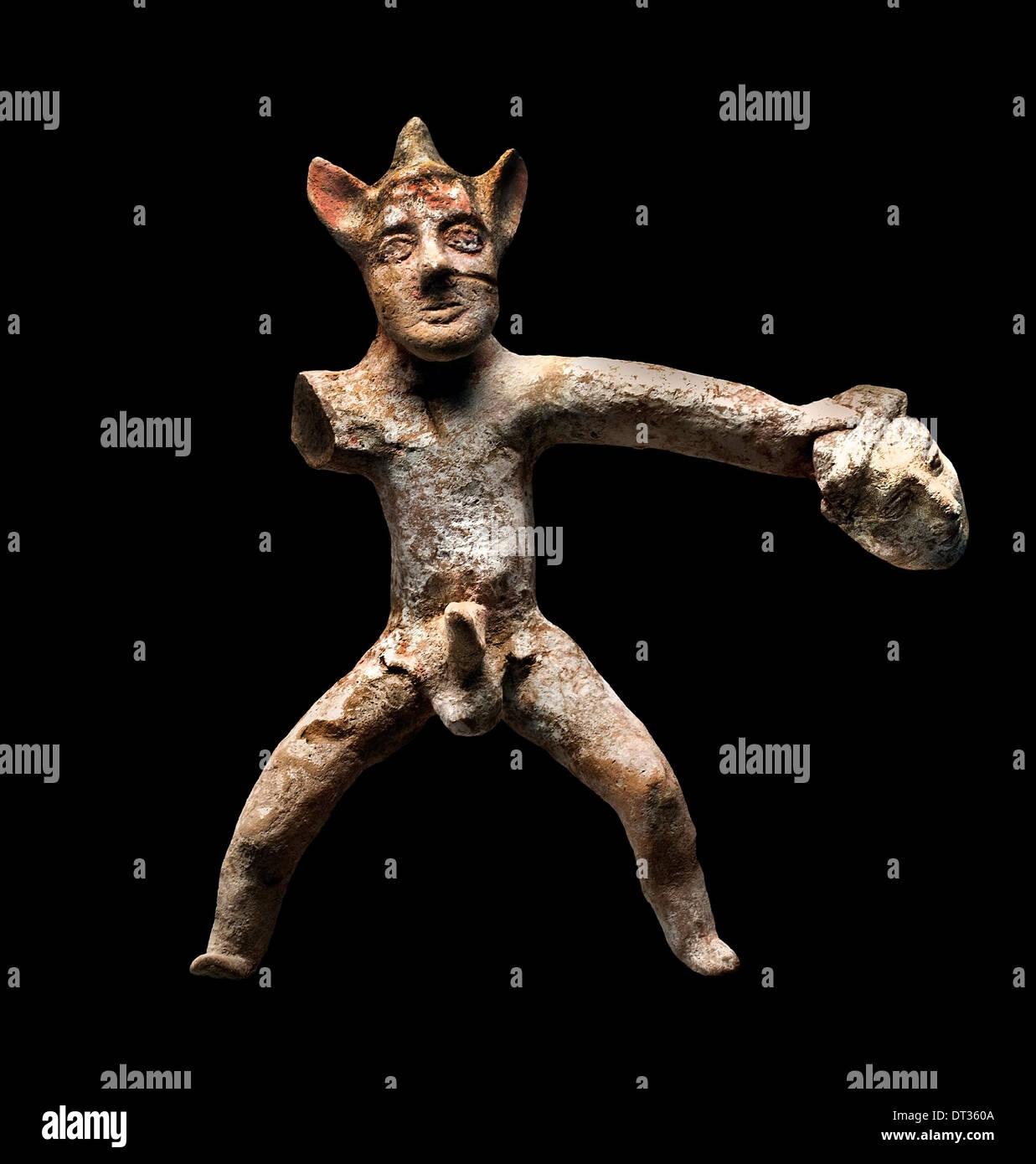 Acteur de l'adolescent avec masque ( au service de Dionysos ) 190-160 BC Grèce Grec Banque D'Images