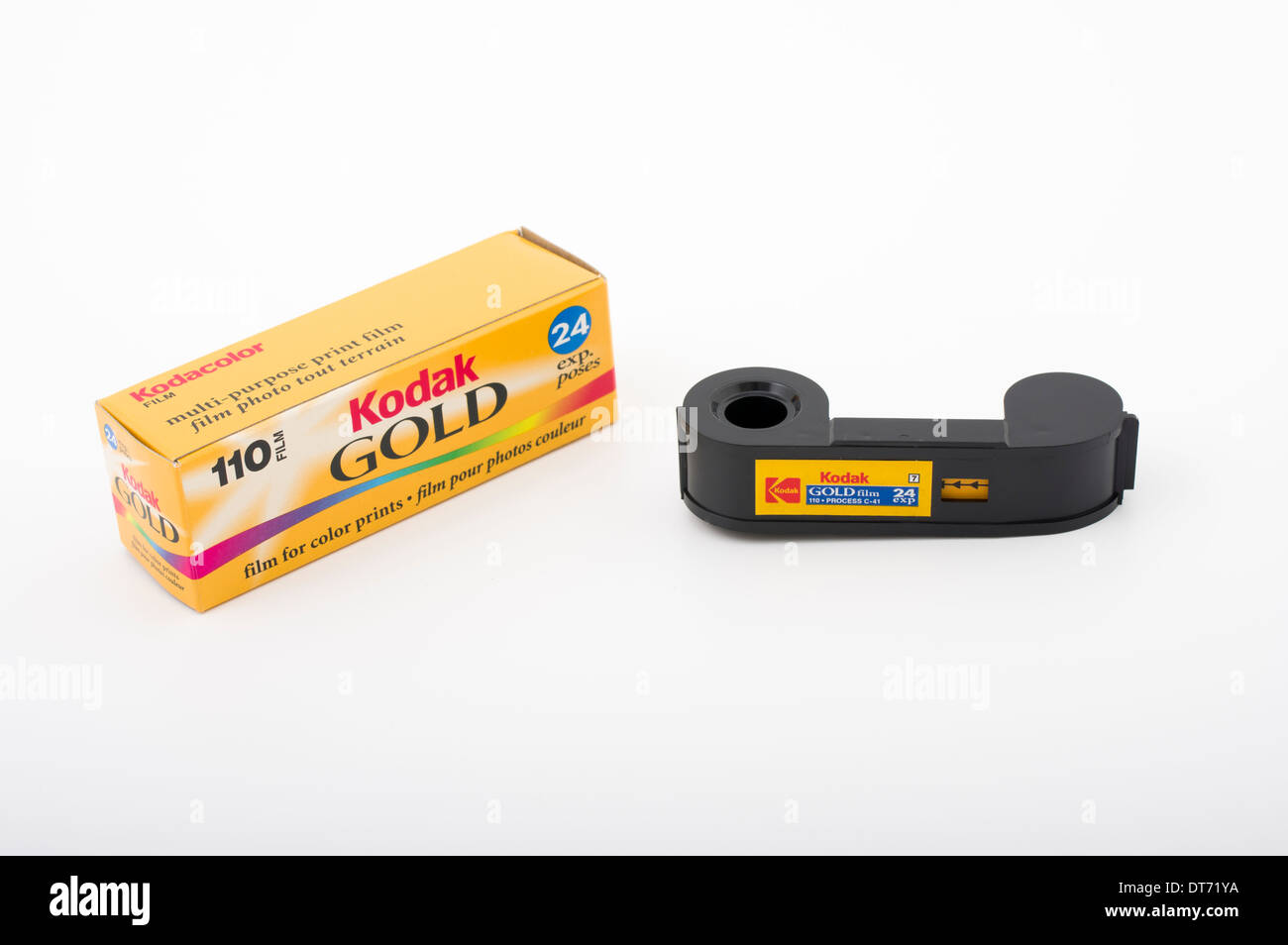 110 film format Kodak. Photo Stock