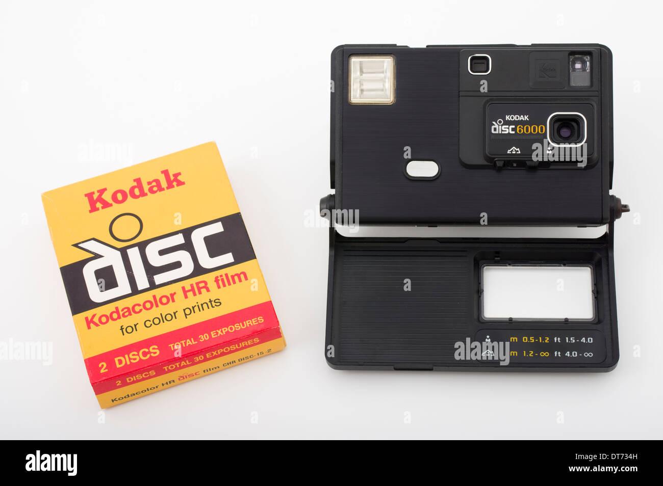 Avec l'appareil photo Kodak disc 6000 film disque Banque D'Images