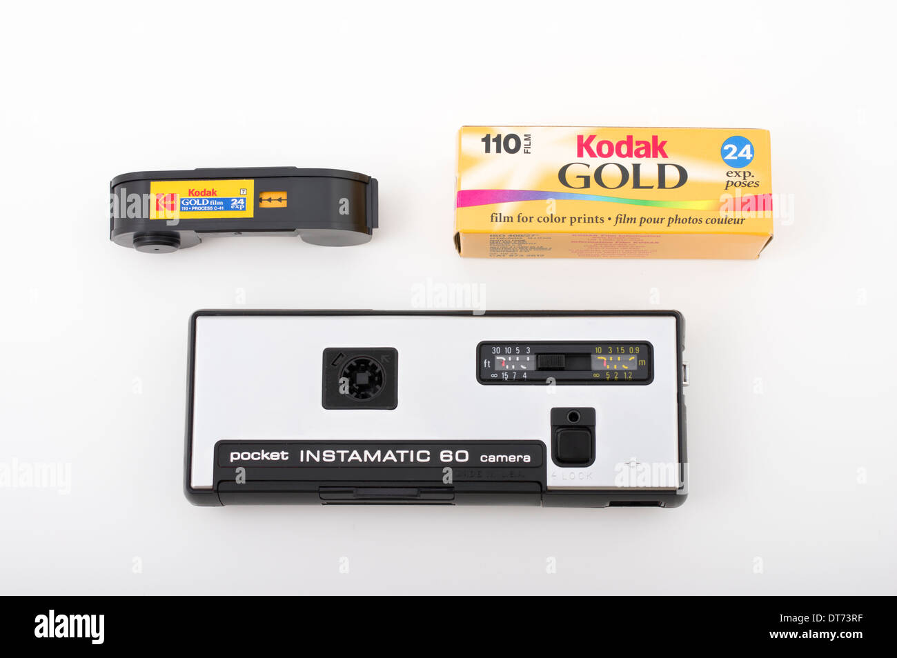 Appareil photo Kodak Instamatic 60 pour 110 films au format film. Photo Stock
