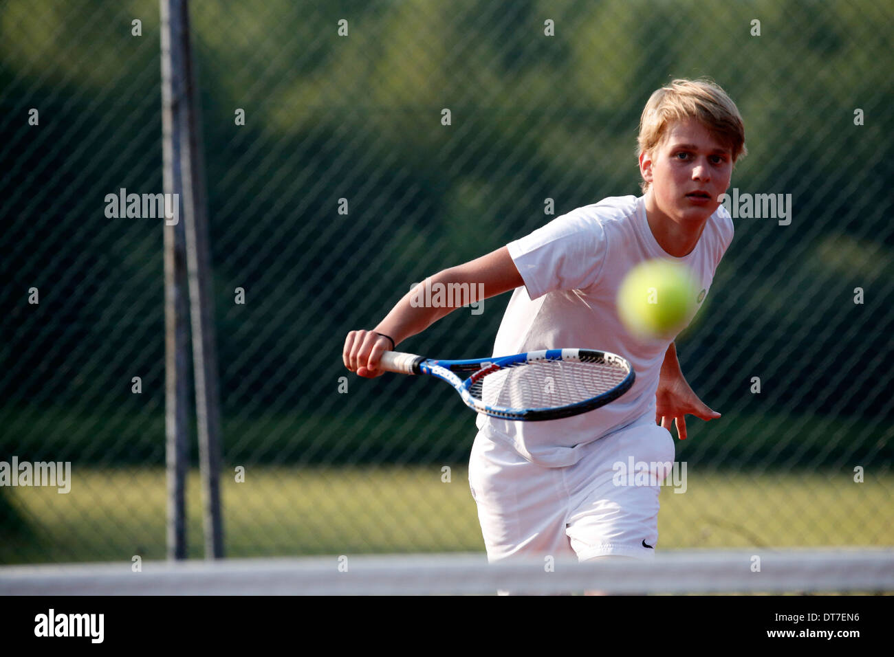 Joueuse de tennis. Photo Stock