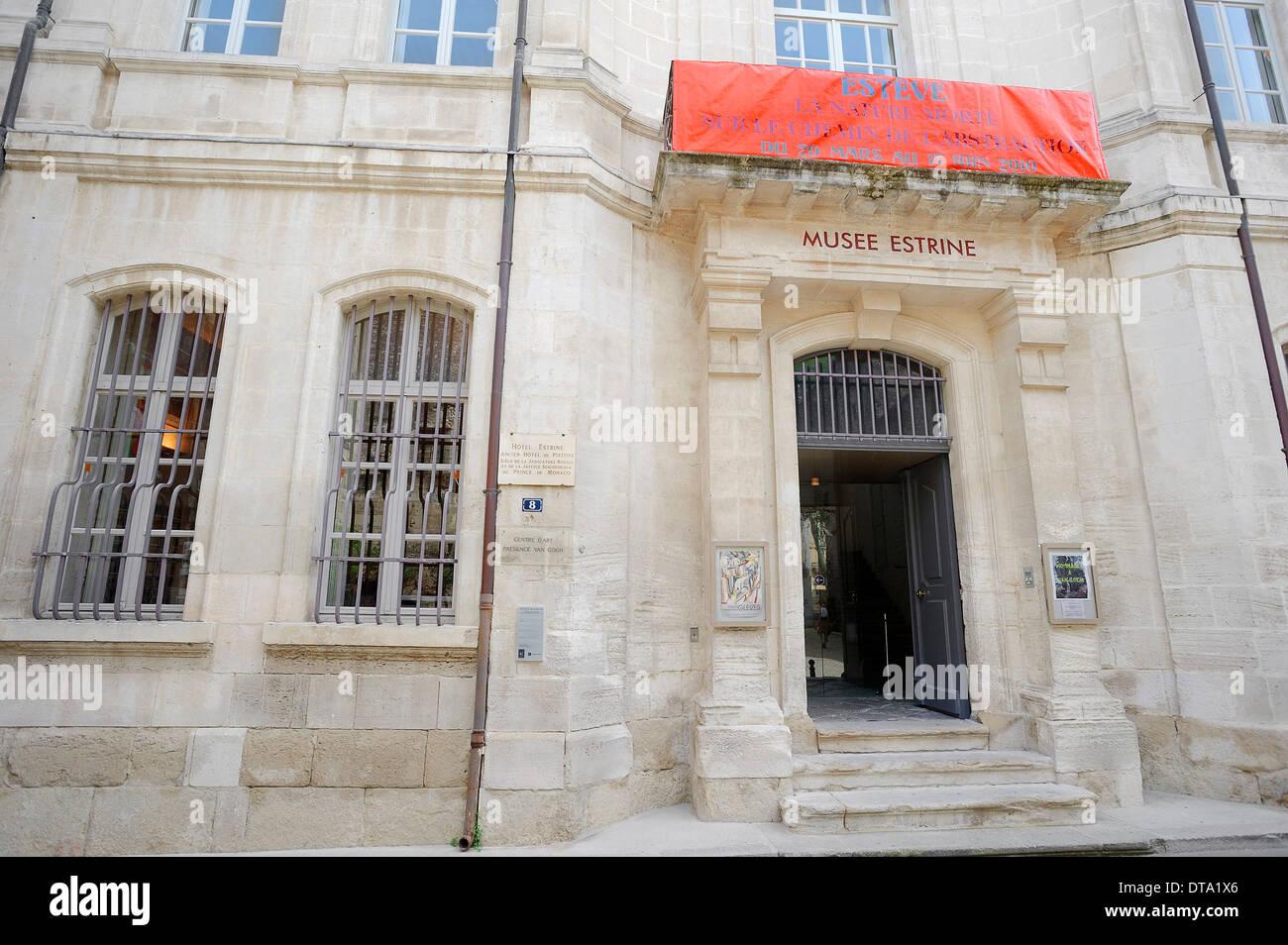 Musée Estrine, Saint Remy-de-Provence, Bouches-du-Rhône, Provence-Alpes-Côte d&#39;Azur, dans le sud de la France, France Photo Stock