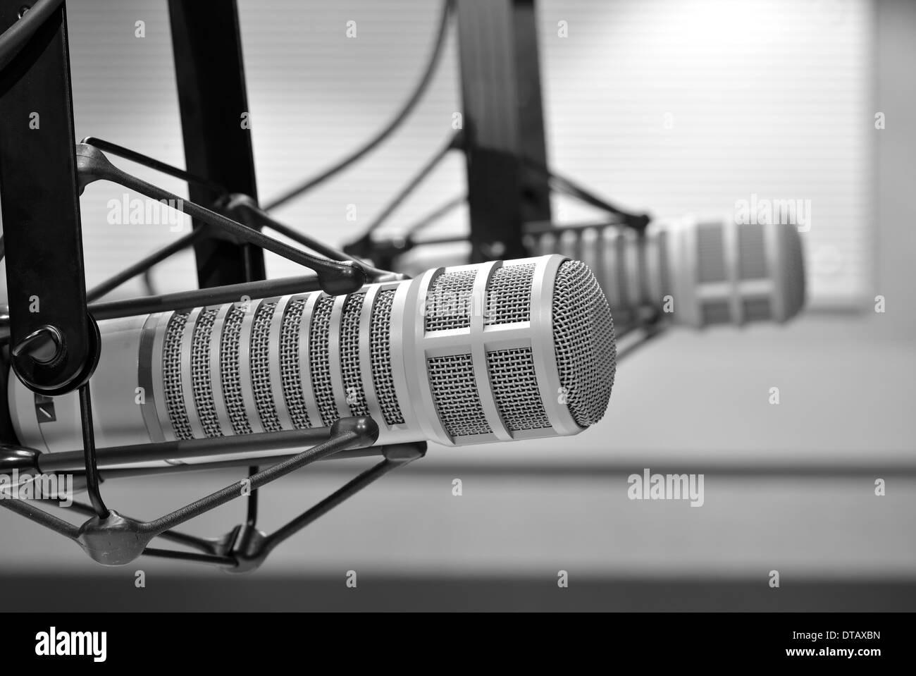 Microphone de studio de radio Photo Stock