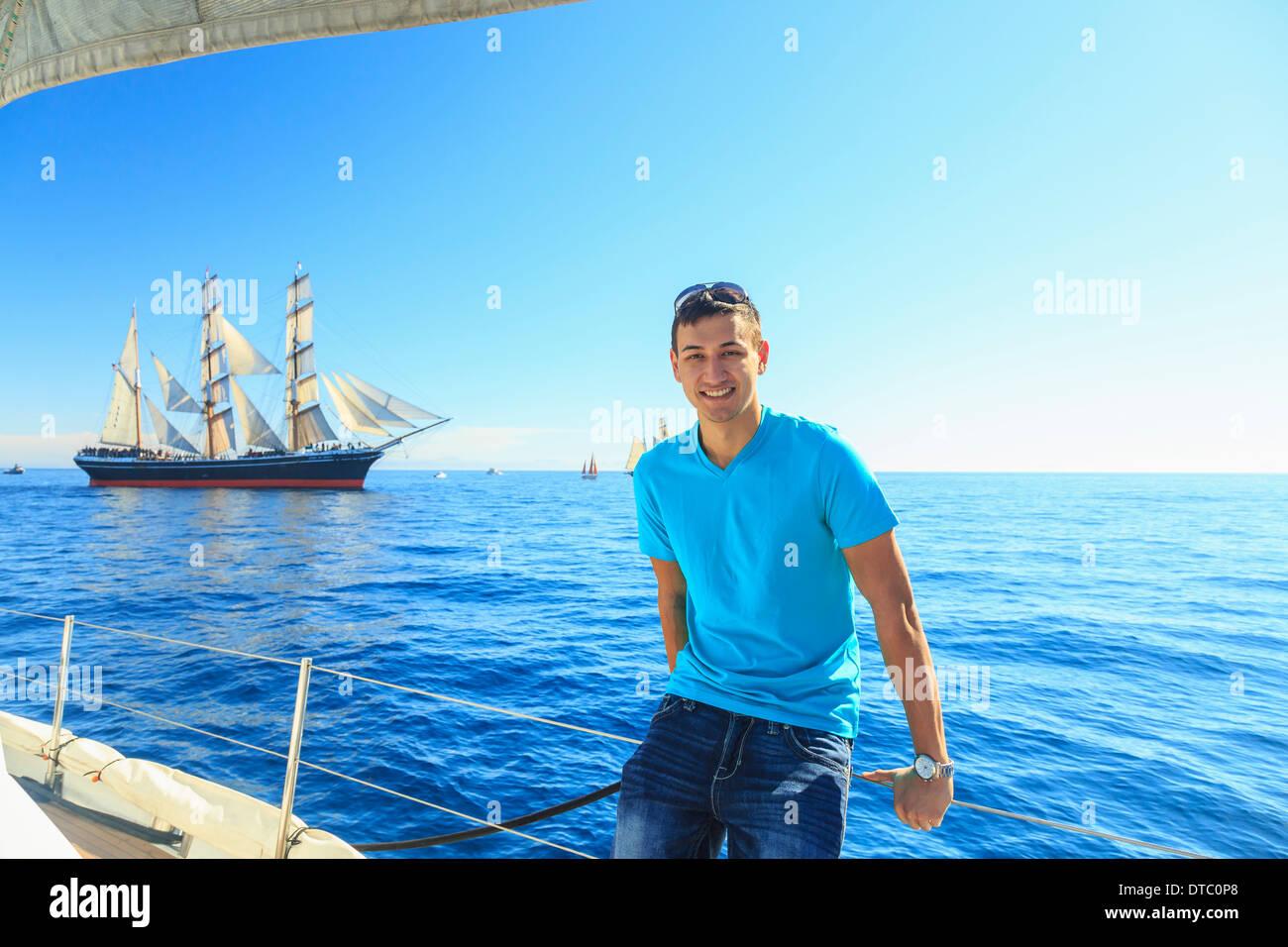 Jeune homme, à San Diego, Californie, USA Photo Stock