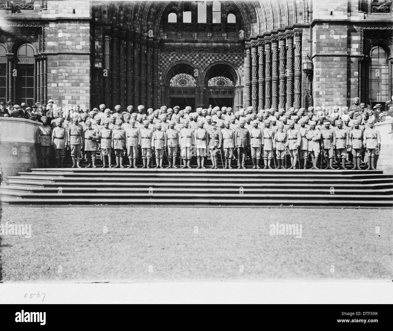 Des soldats indiens à l'entrée, 15 août 1919 Photo Stock