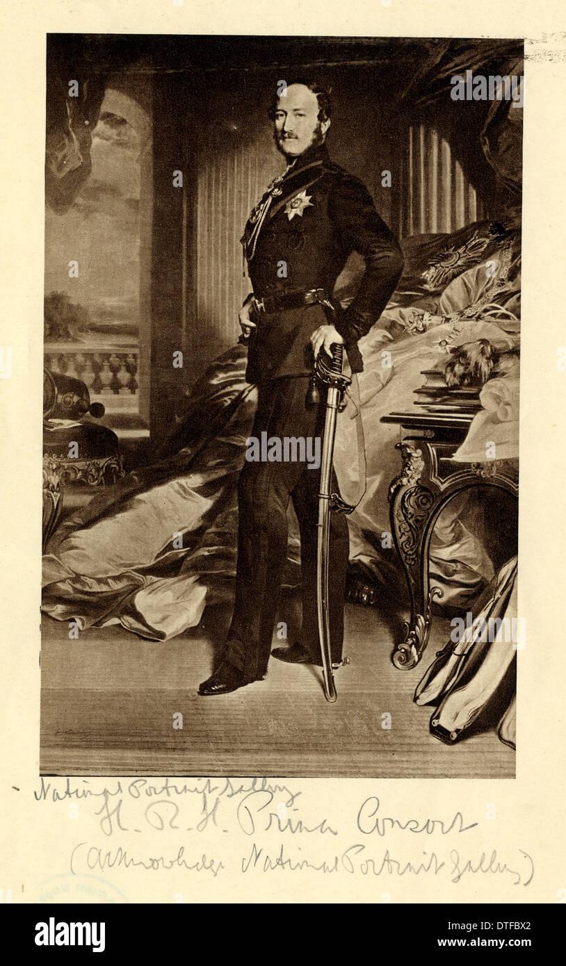 Le Prince Albert, époux de la reine Victoria (1819-1861) Photo Stock