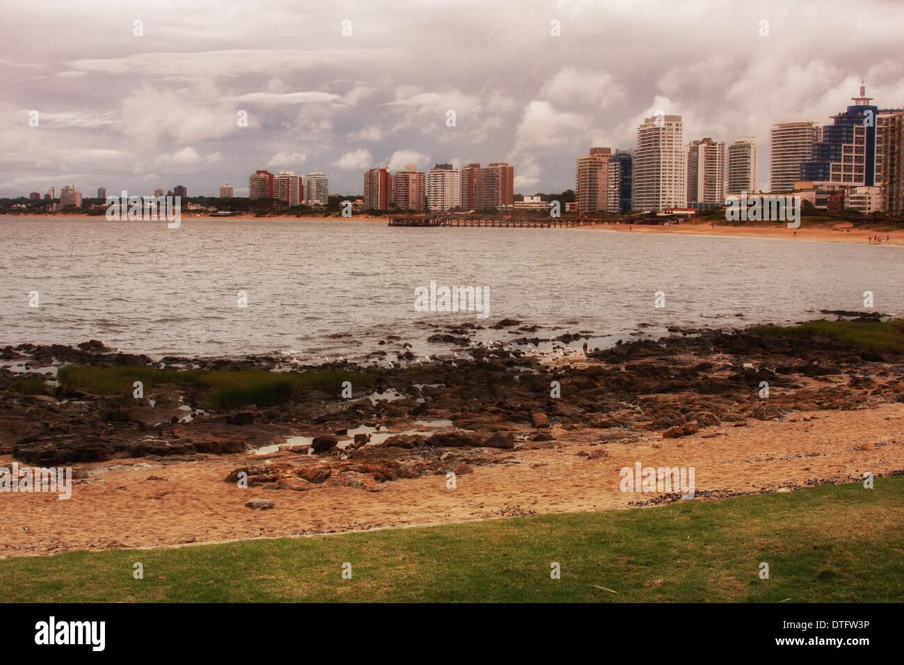 Photo prise à Punta del Este, Montevideo Photo Stock