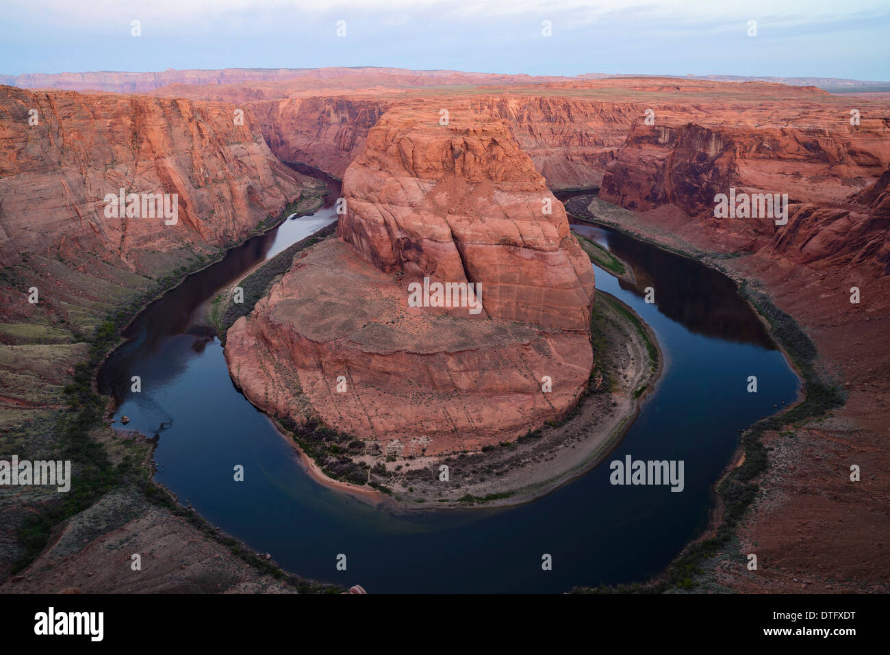 Horseshoe Bend, Colorado River, près de Page, Arizona, USA Photo Stock